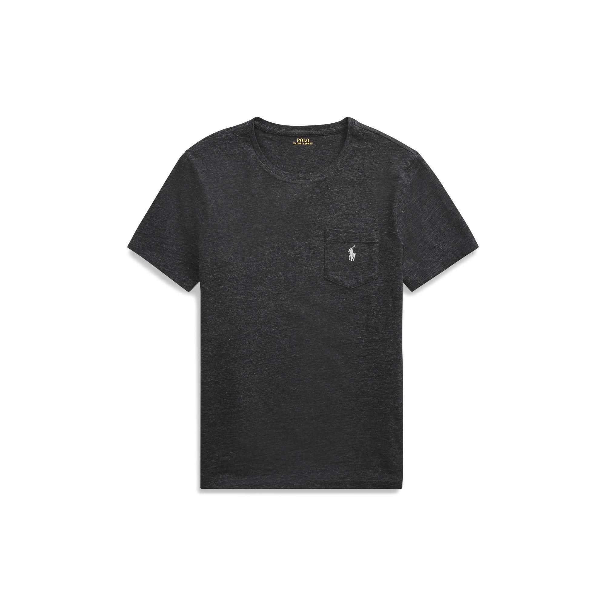 69fccb2b46f1a8 Polo Ralph Lauren Custom Slim Fit Pocket T-shirt in Black for Men - Lyst