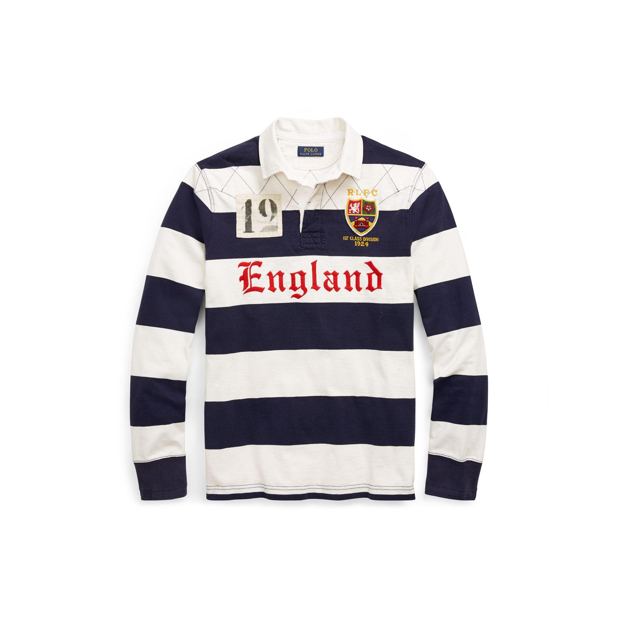 3f9dcf8ab0a ... low price polo ralph lauren the iconic rugby shirt in blue for men lyst  48b0c 5fecf
