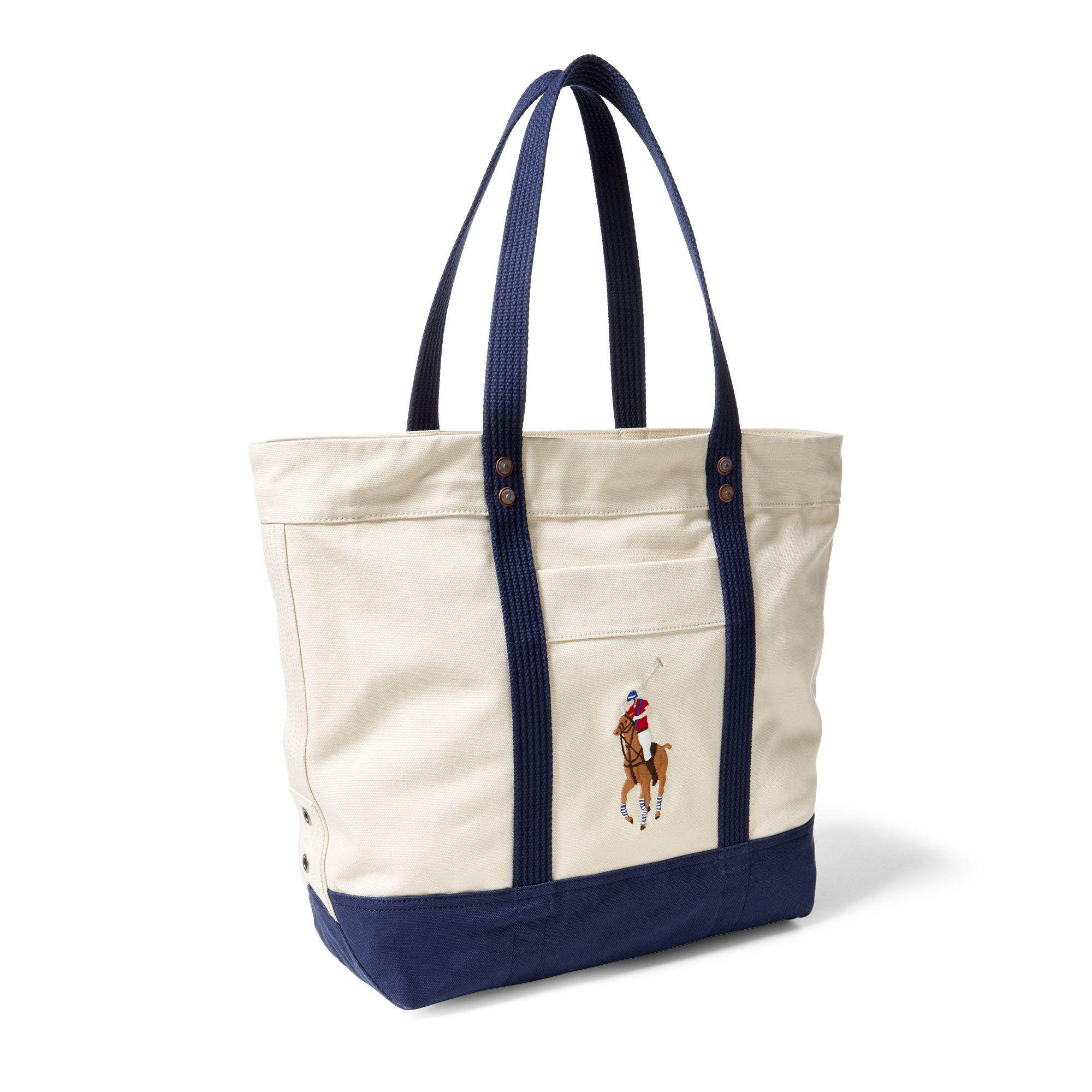 f2f63d2b7886 Polo Ralph Lauren - Blue Canvas Big Pony Tote for Men - Lyst. View  fullscreen