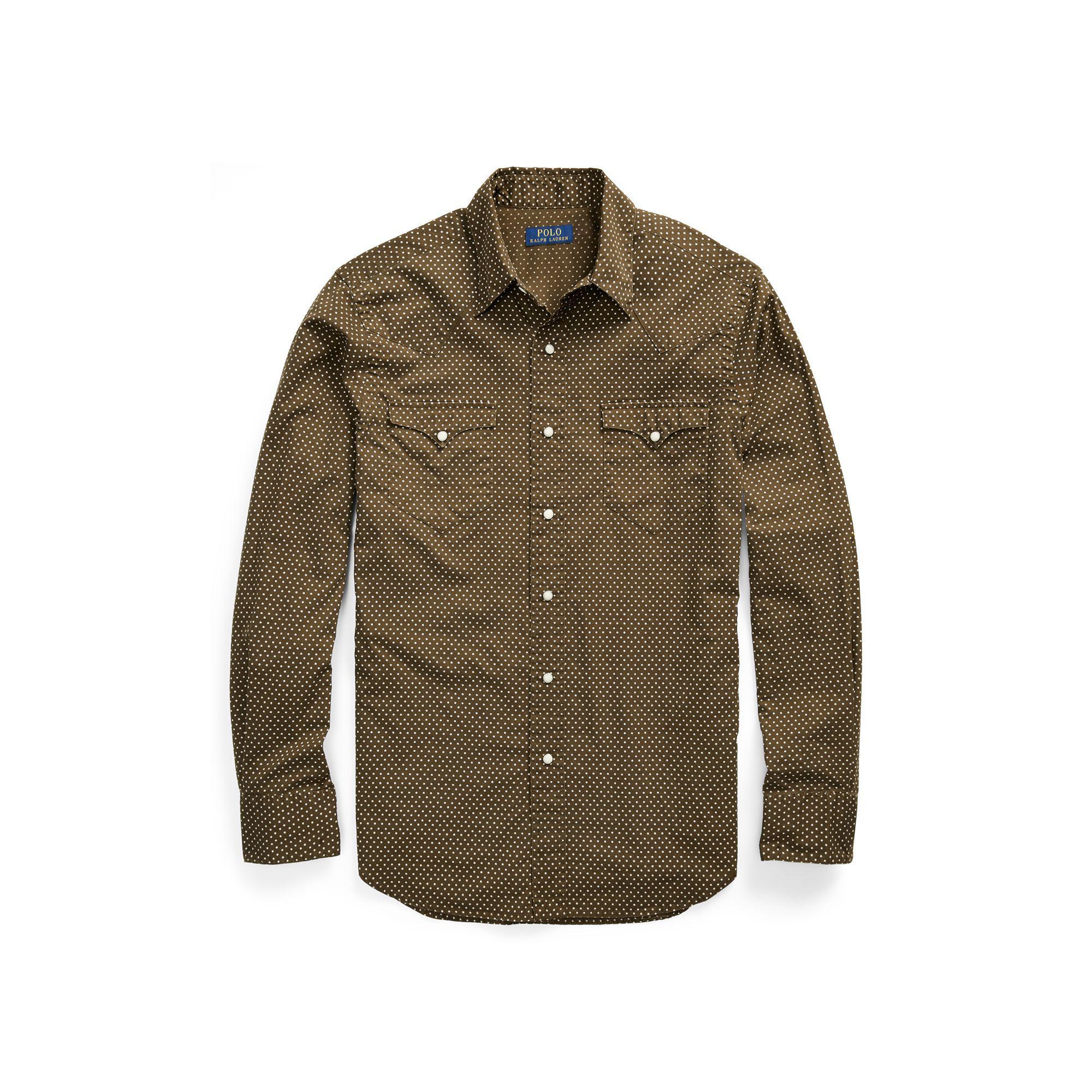 66c8beac Polo Ralph Lauren Classic Fit Star Twill Shirt for Men - Lyst