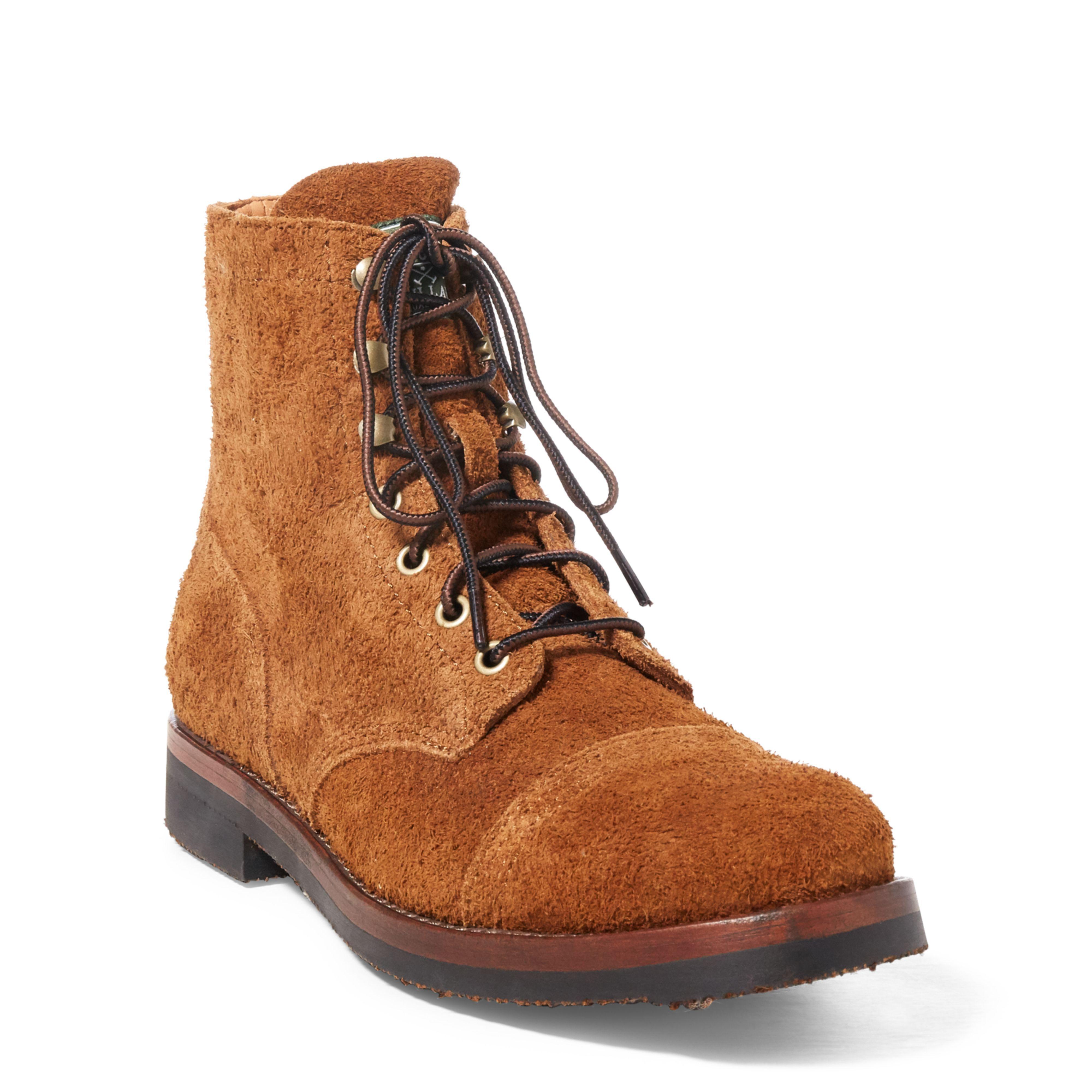 901fc6744354f Polo Ralph Lauren Enville Suede Cap-toe Boot in Brown for Men - Lyst