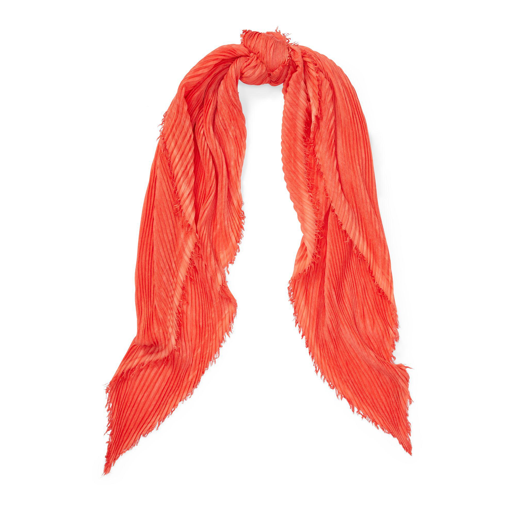 Lyst - Polo Ralph Lauren Pleated Diamond Scarf in Red 653cafdabcb