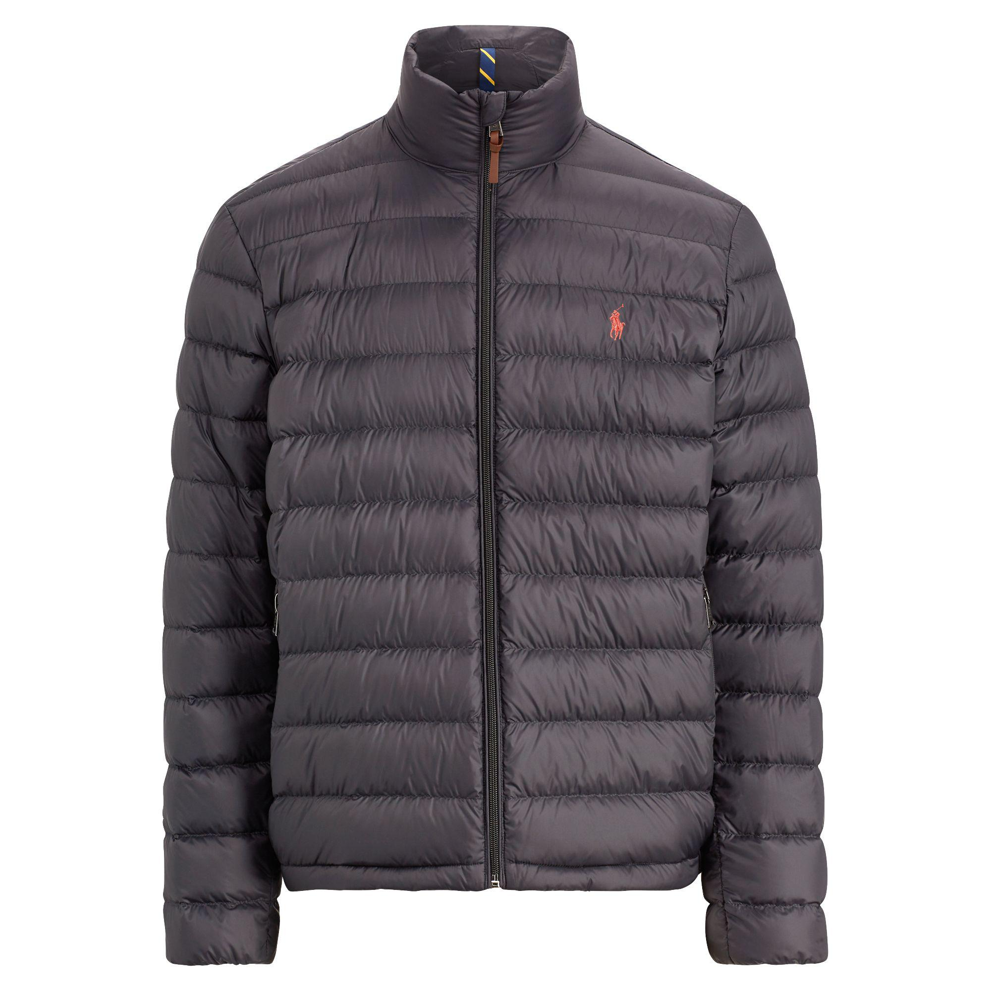 Polo Ralph Lauren Packable Quilted Down Jacket in Black ...