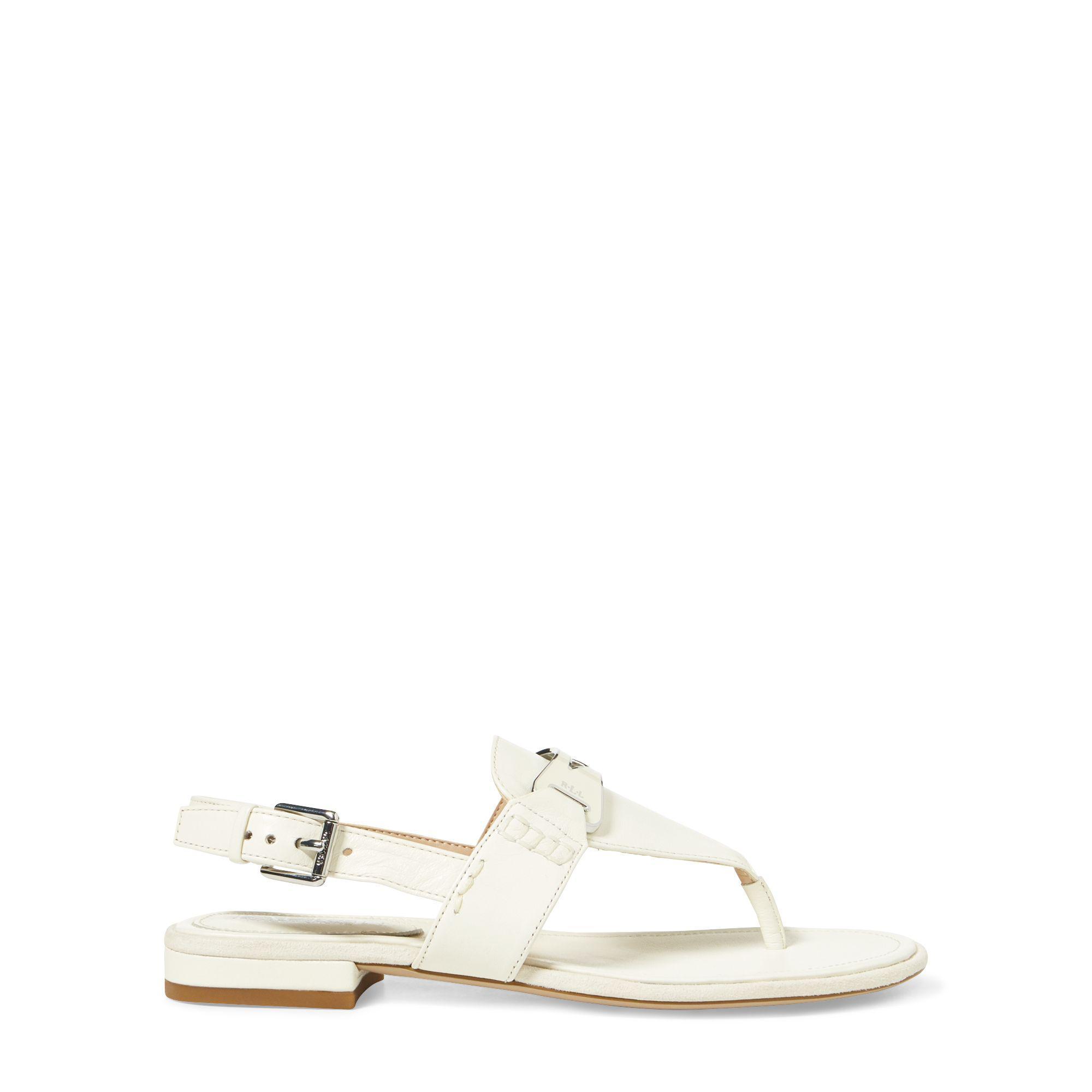 7dec78dd68c3 Ralph Lauren Dayna Leather Thong Sandal - Lyst