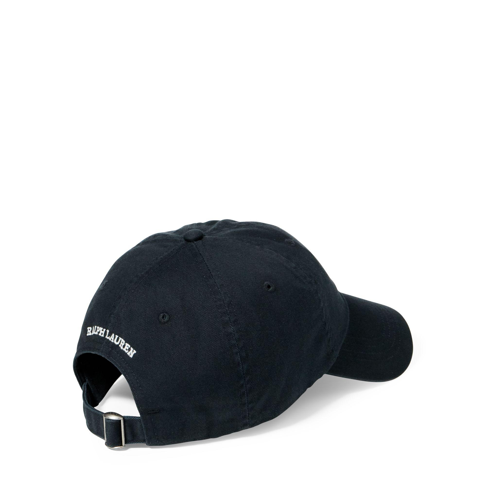 Polo Ralph Lauren Martini Polo Bear Chino Cap in Black for Men - Lyst bd8b288bf32b