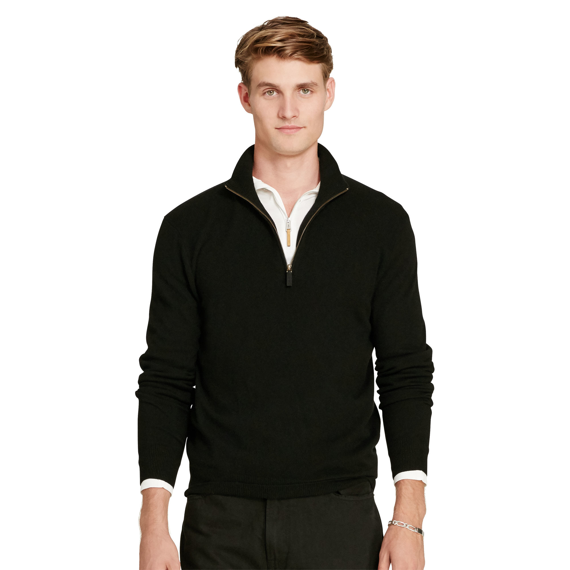 6fd1d5817a3ca Lyst - Polo Ralph Lauren Cashmere Half-zip Sweater for Men