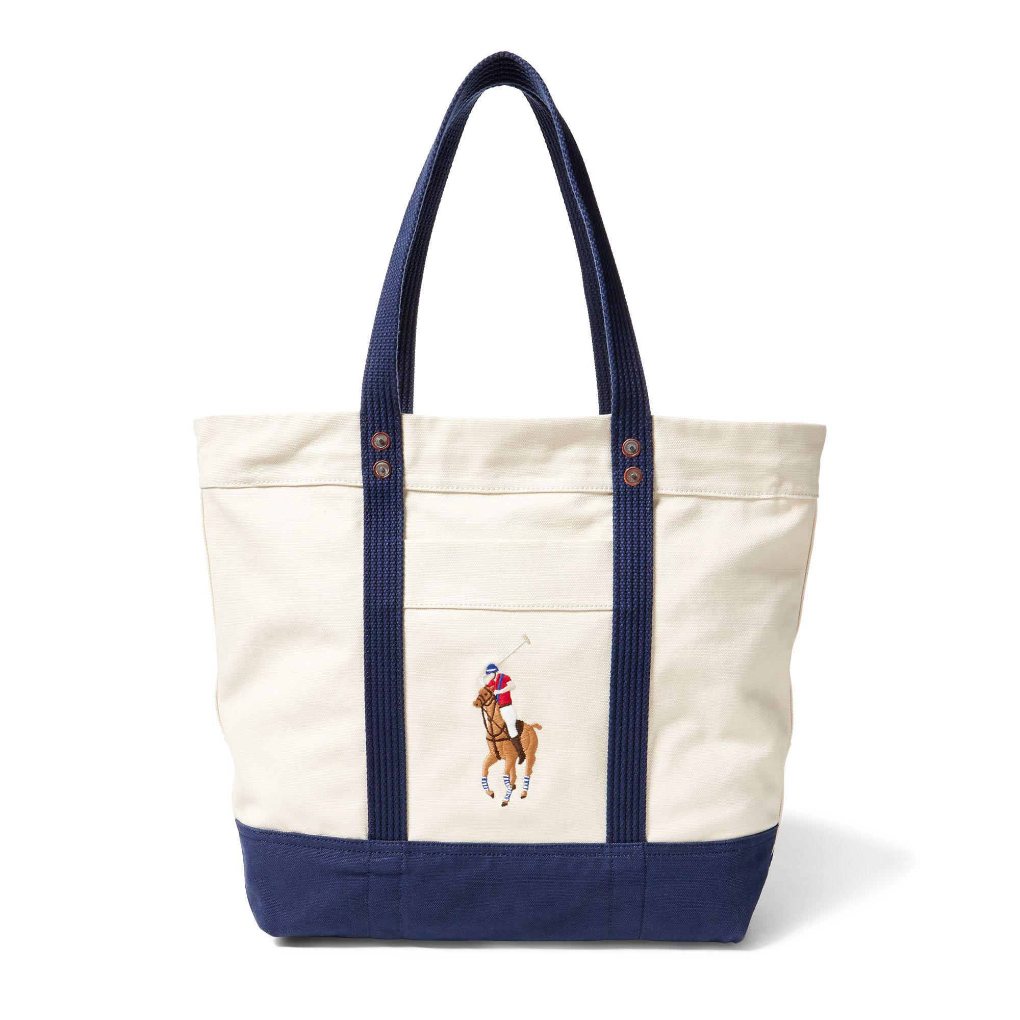 87c79ccfee92 Lyst - Polo Ralph Lauren Canvas Big Pony Tote in Blue for Men