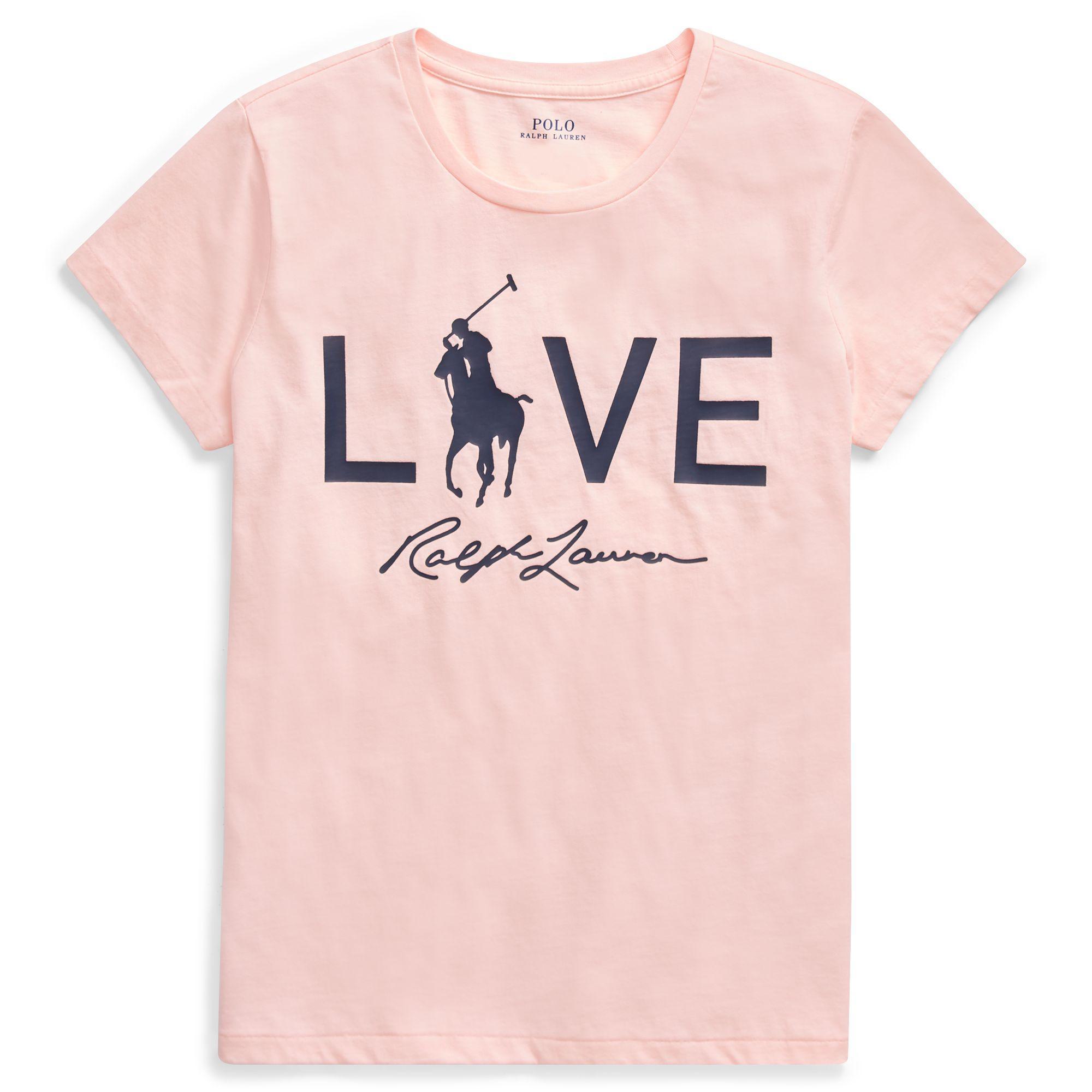 85981b21 Ralph Lauren Pink Pony Love Graphic T-shirt in Pink - Lyst