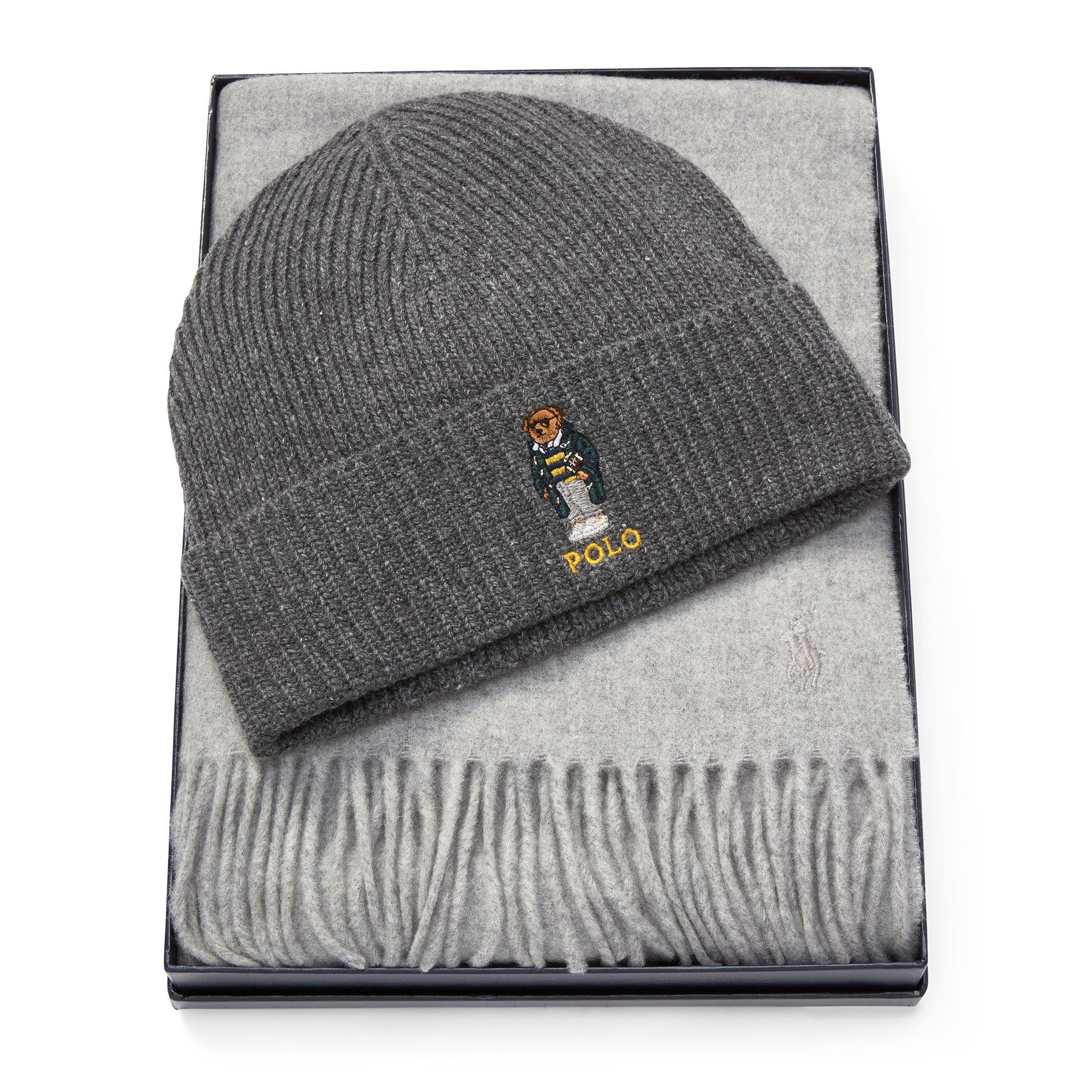 Lyst - Polo Ralph Lauren Polo Bear Hat   Scarf in Brown for Men c57e4b44ded5
