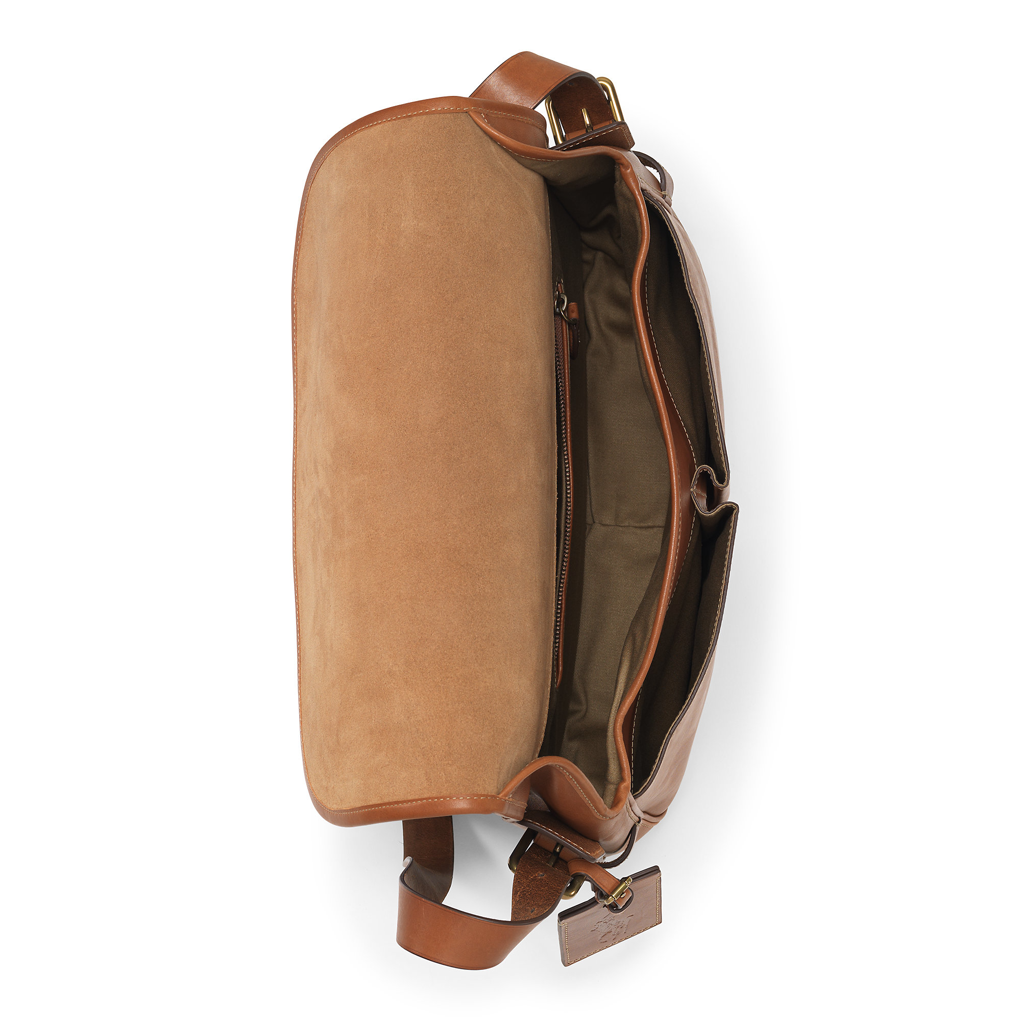 d3e2909445 Lyst - Polo Ralph Lauren Smooth Leather Messenger Bag in Brown for Men