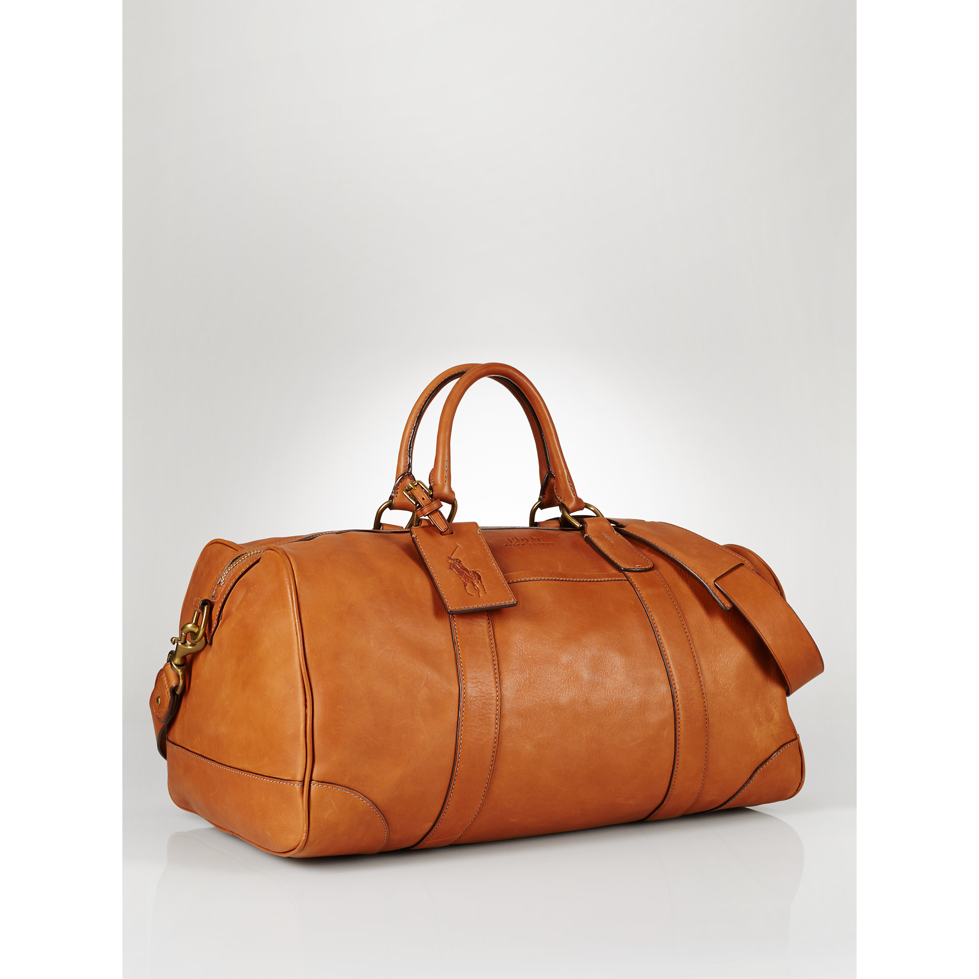 5b19b2591646 Polo Ralph Lauren Leather Duffel Bag in Brown for Men - Lyst