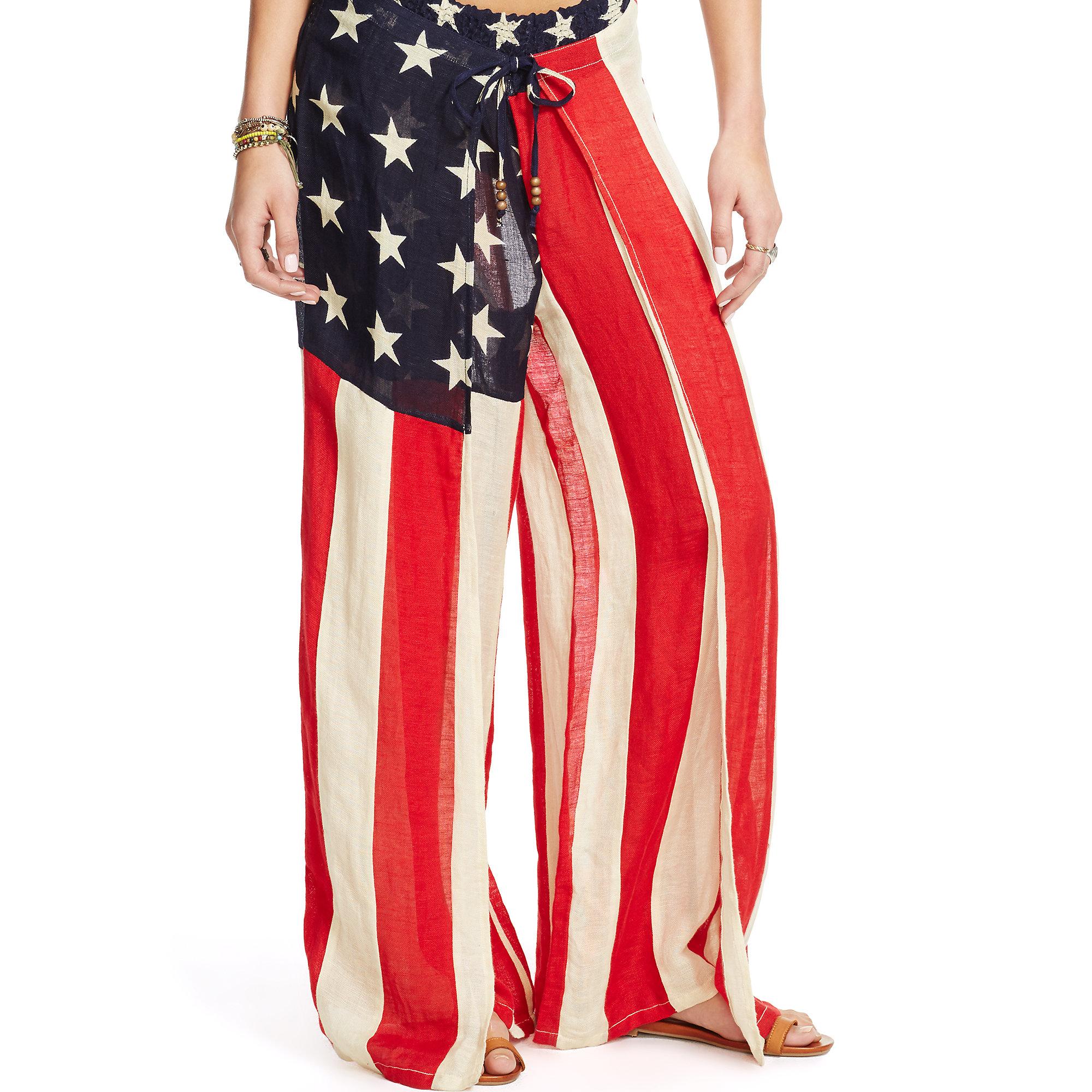 Denim Amp Supply Ralph Lauren Stars And Stripes Gauze Pant