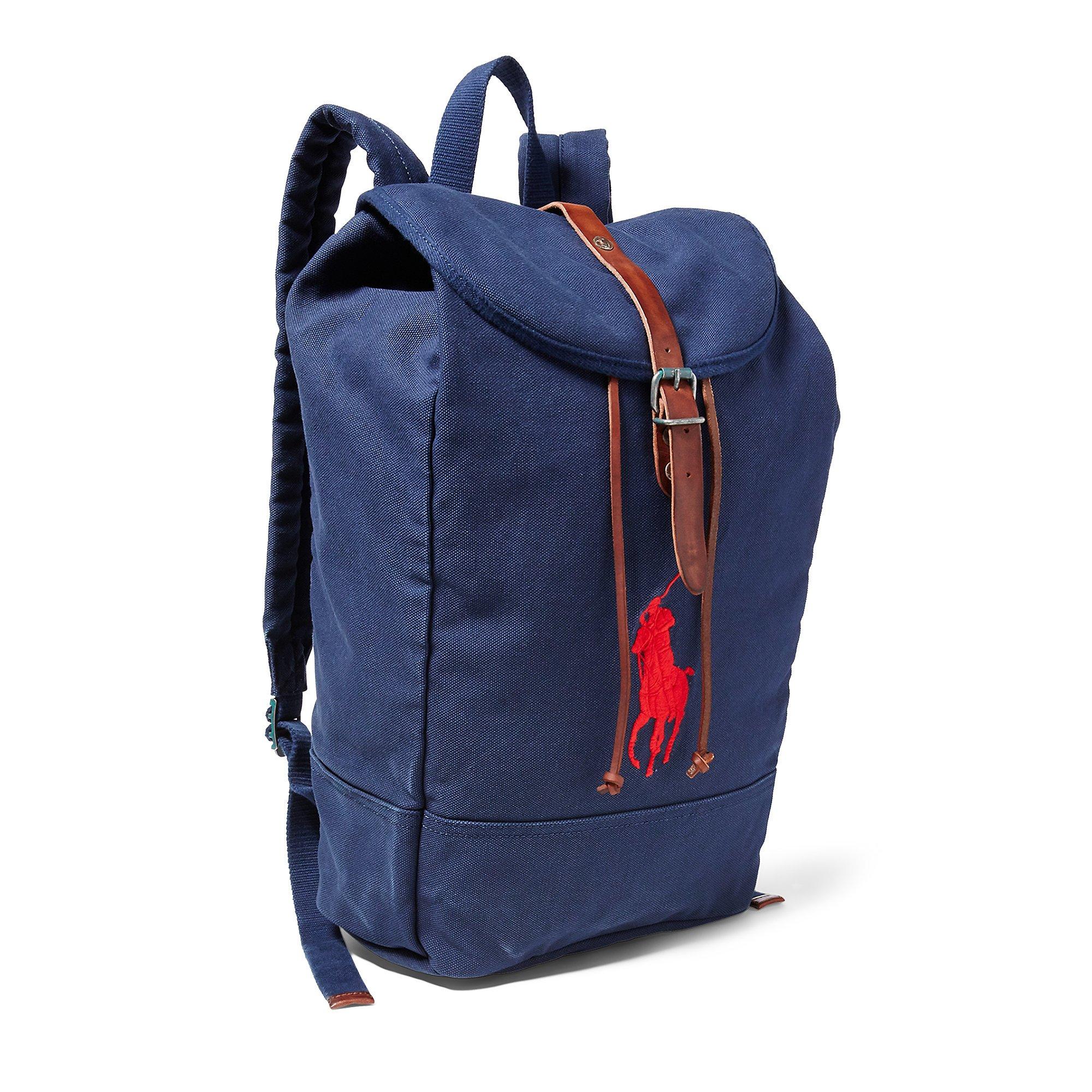 57f20a12a6 Ralph Lauren Big Pony Canvas Backpack- Fenix Toulouse Handball