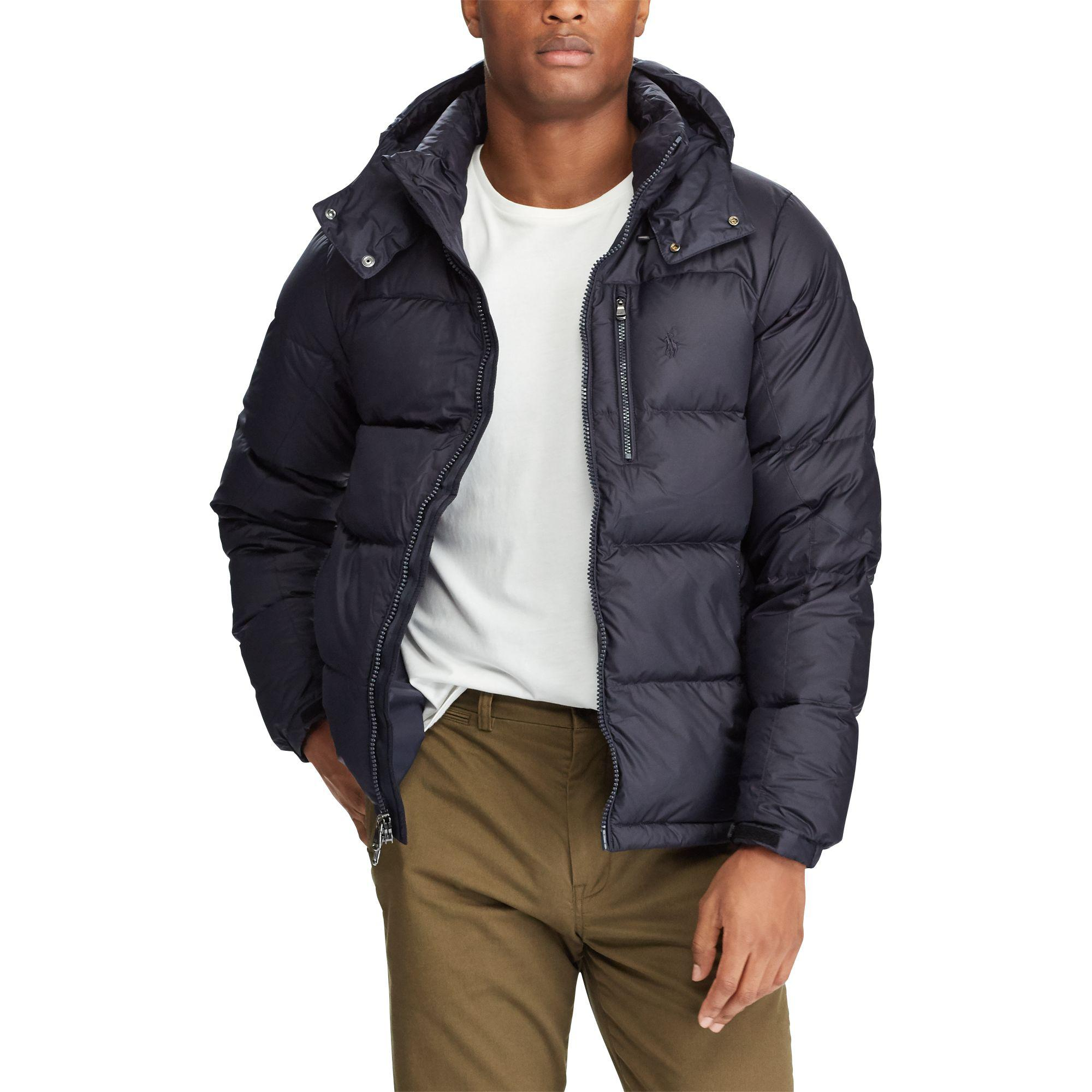 a40bc09f5eacd Polo Ralph Lauren Water-repellent Down Jacket in Blue for Men - Lyst