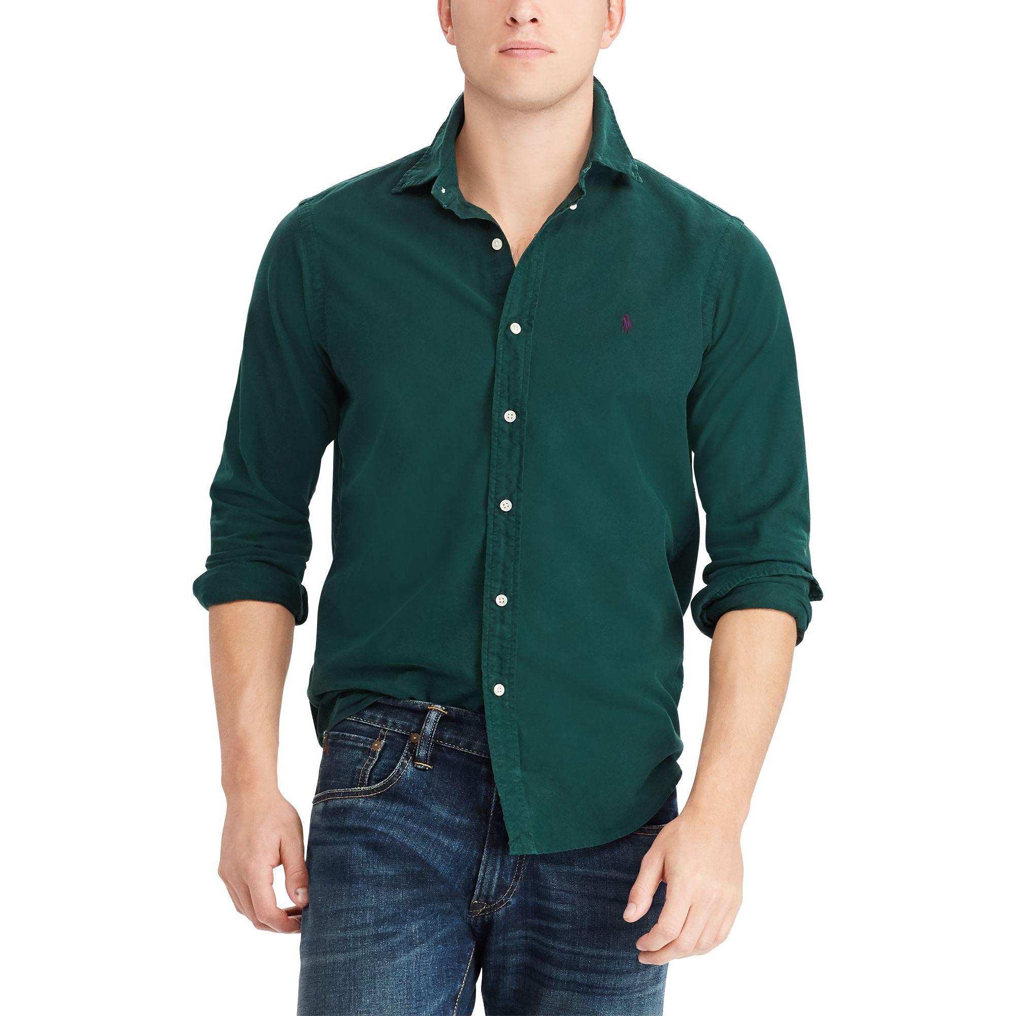 1e3cc07a9 Polo Ralph Lauren Classic Fit Oxford Shirt in Green for Men - Lyst
