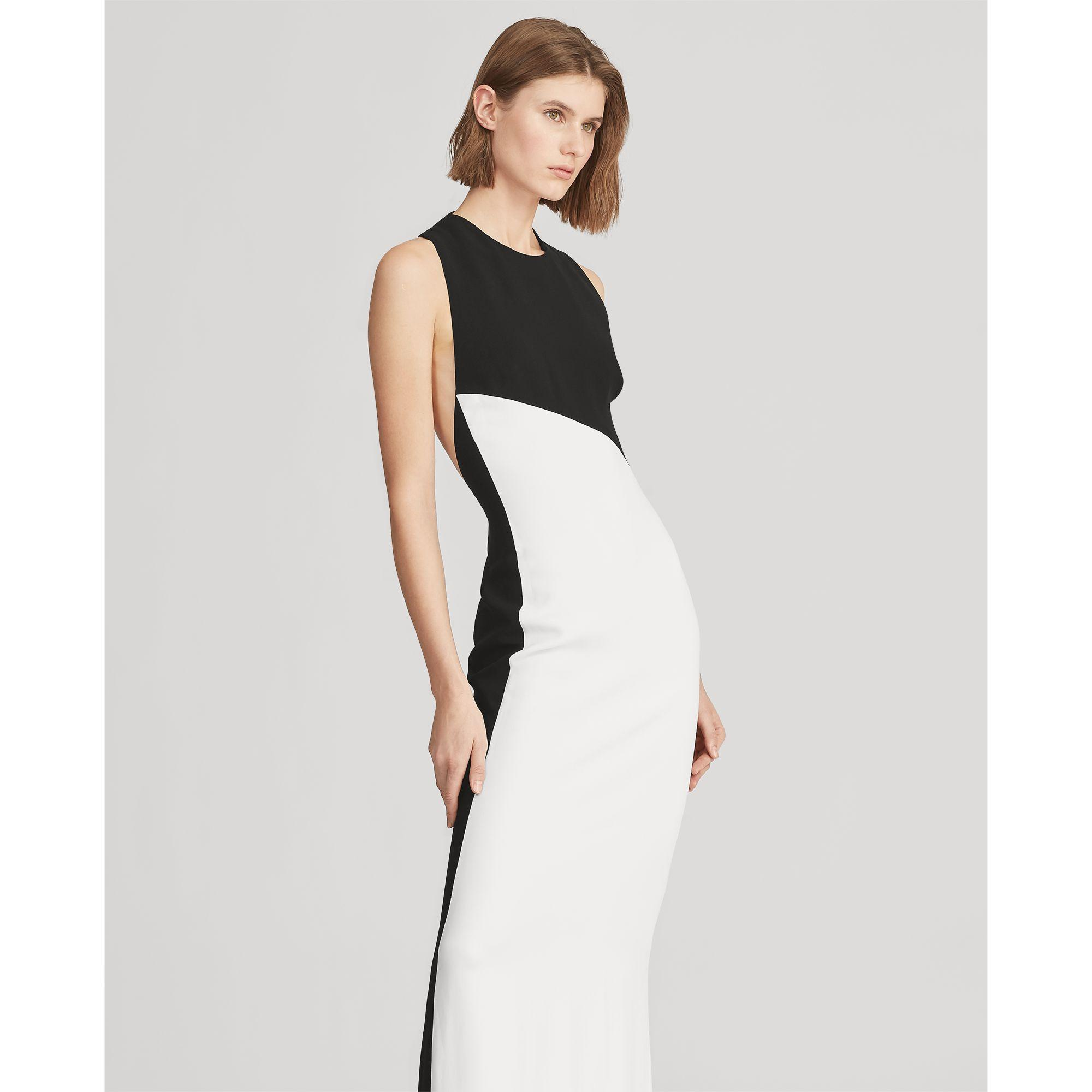 072b7f177ce60 Ralph Lauren Evening Gown Black And White