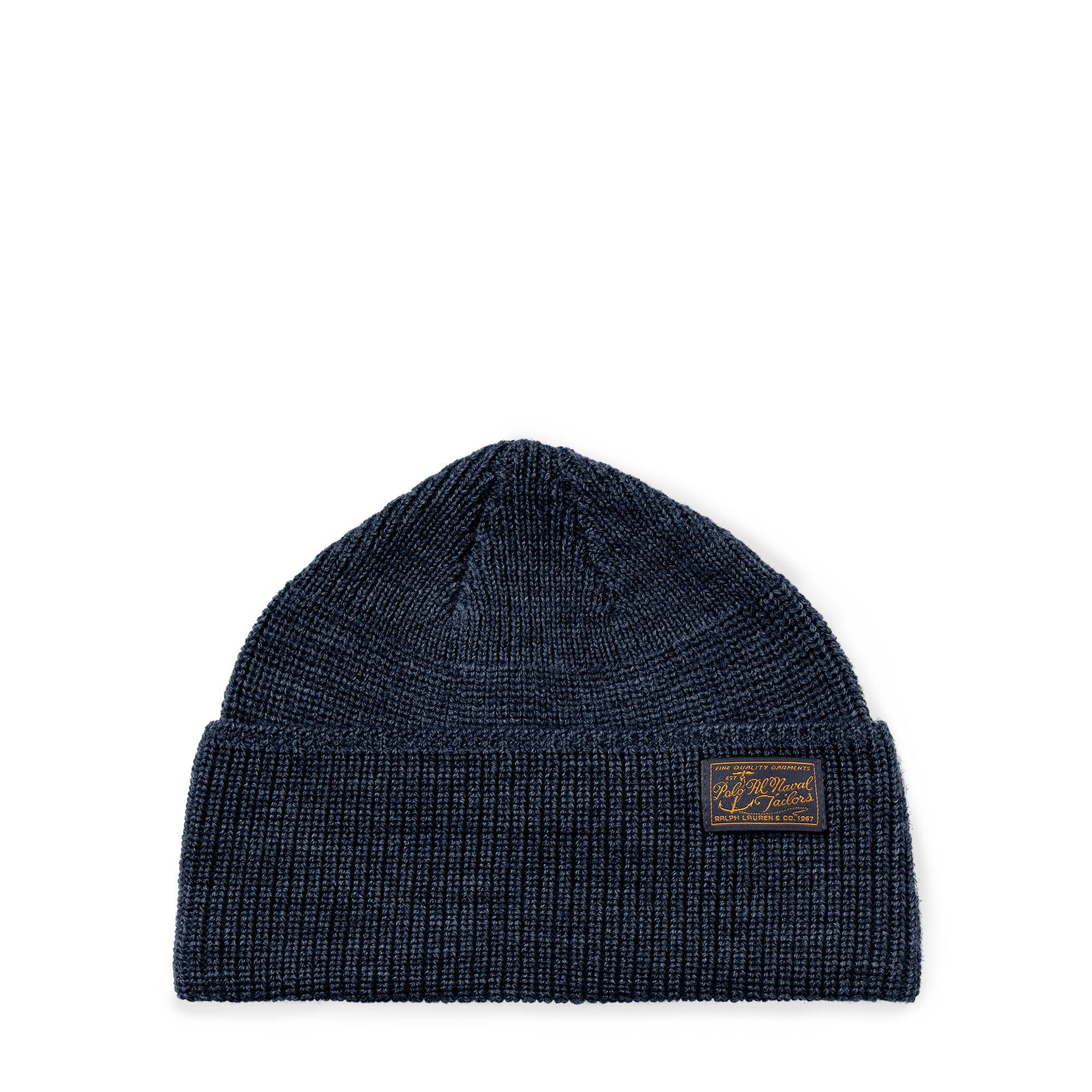 da5da31e28f Lyst - Polo Ralph Lauren Naval-brim Knit Hat in Blue for Men
