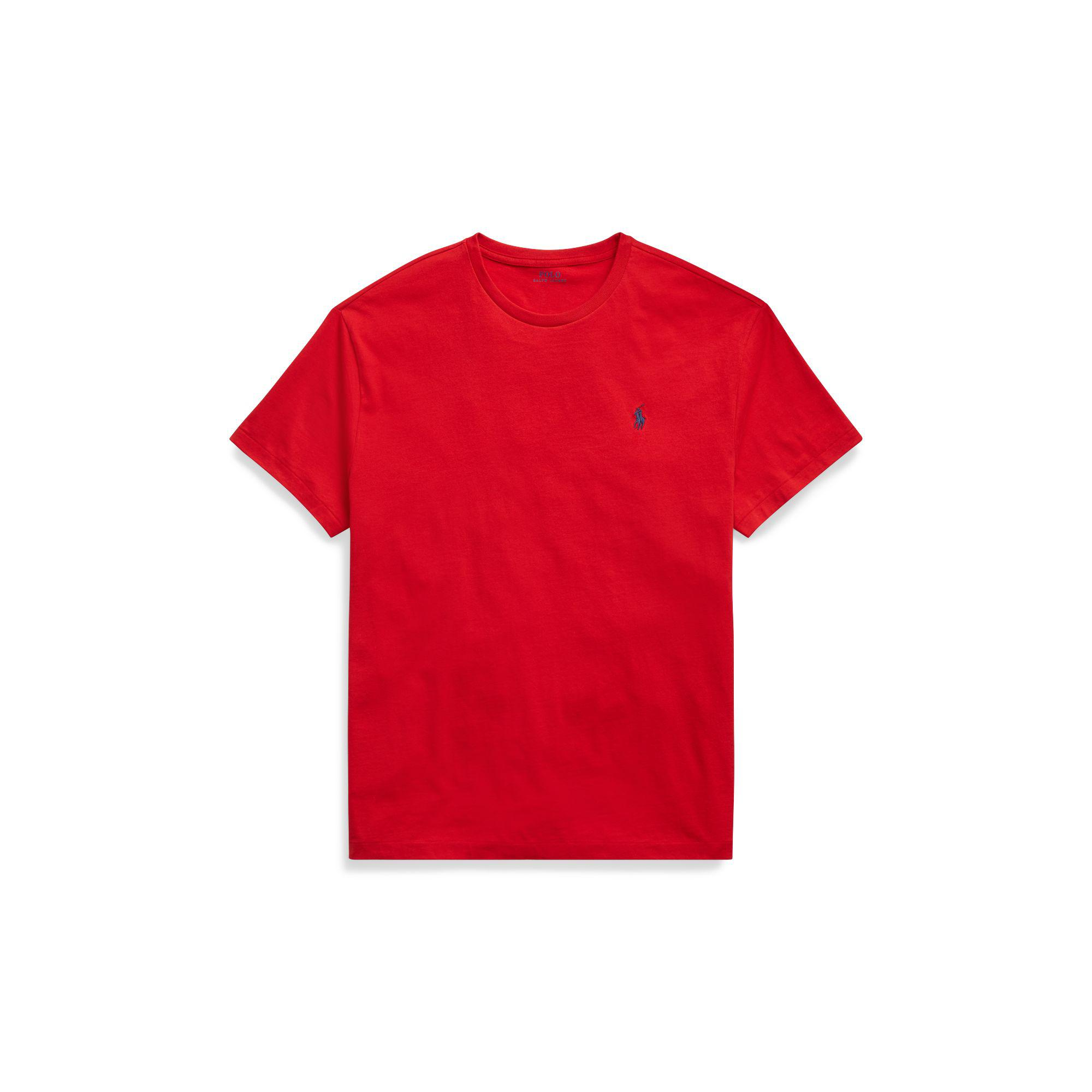 7aab06098cfb6 Polo Ralph Lauren Classic Fit Crewneck Tee in Red for Men - Save 38 ...