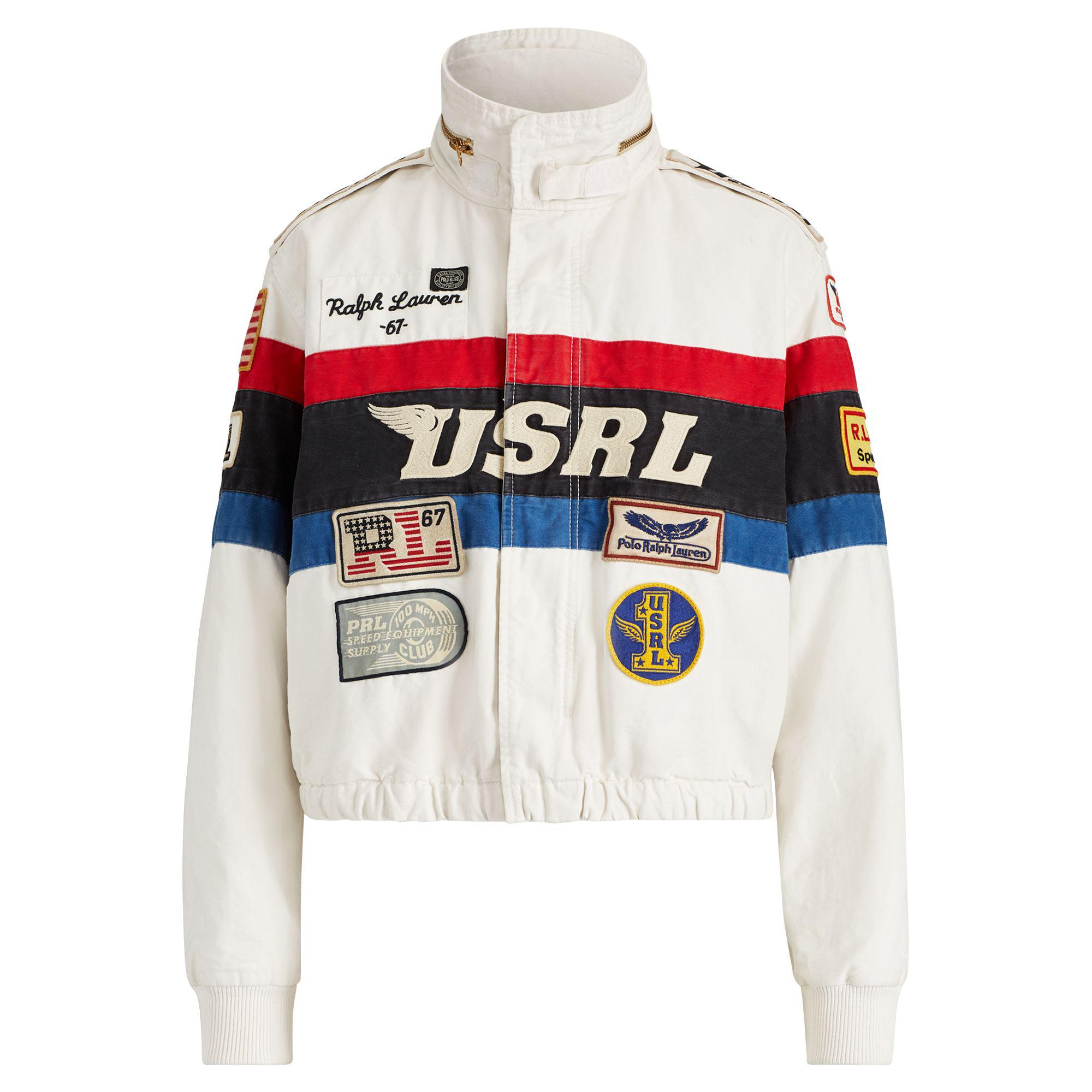009a771742ce Polo Ralph Lauren - Multicolor Canvas Racing Jacket - Lyst. View fullscreen