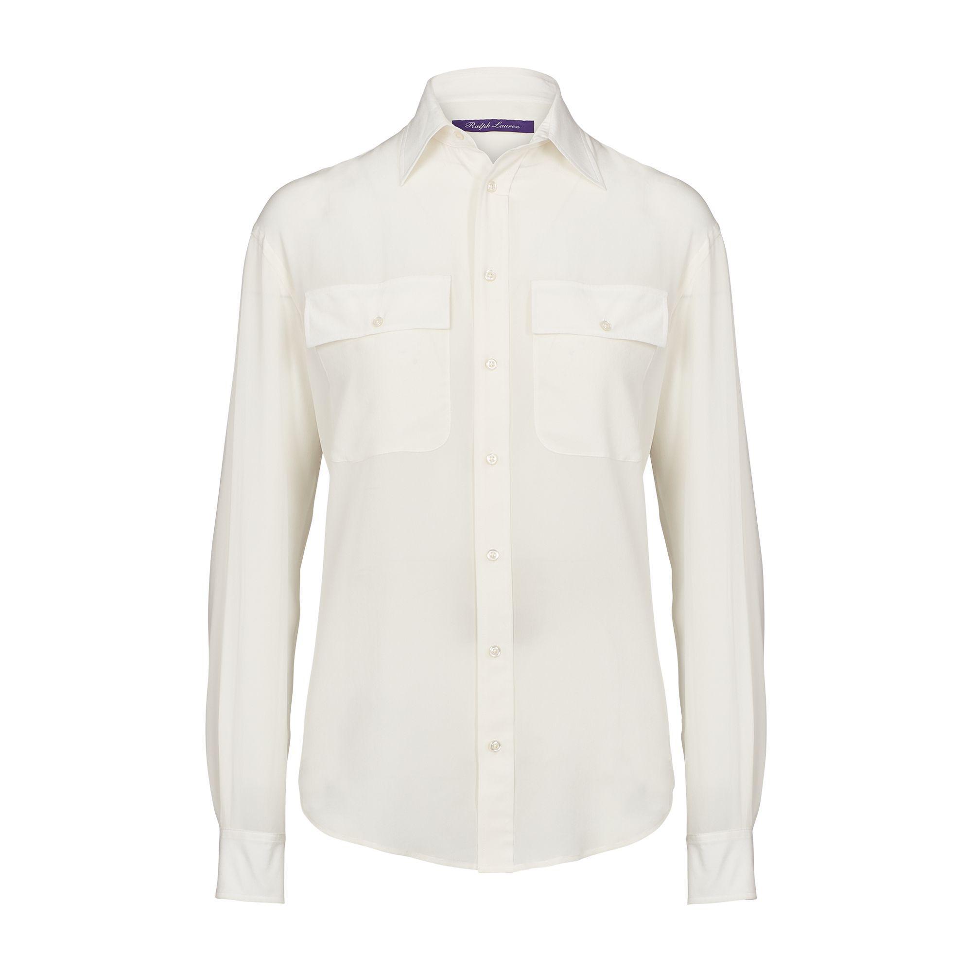 947c67335527aa Ralph Lauren - White Antoinette Silk Shirt - Lyst. View fullscreen
