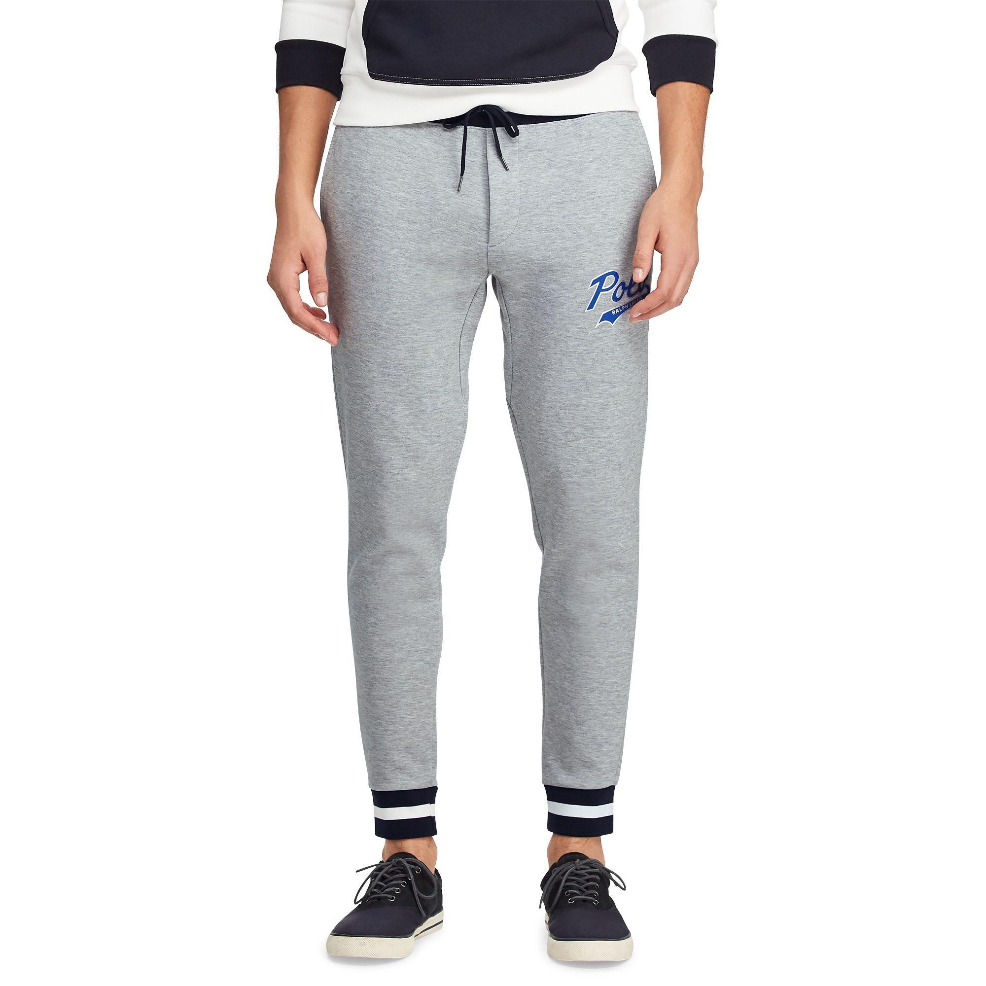 6cb05864ec8 Polo Ralph Lauren - Gray Pantalon de jogging tricot double for Men - Lyst.  Afficher en plein écran