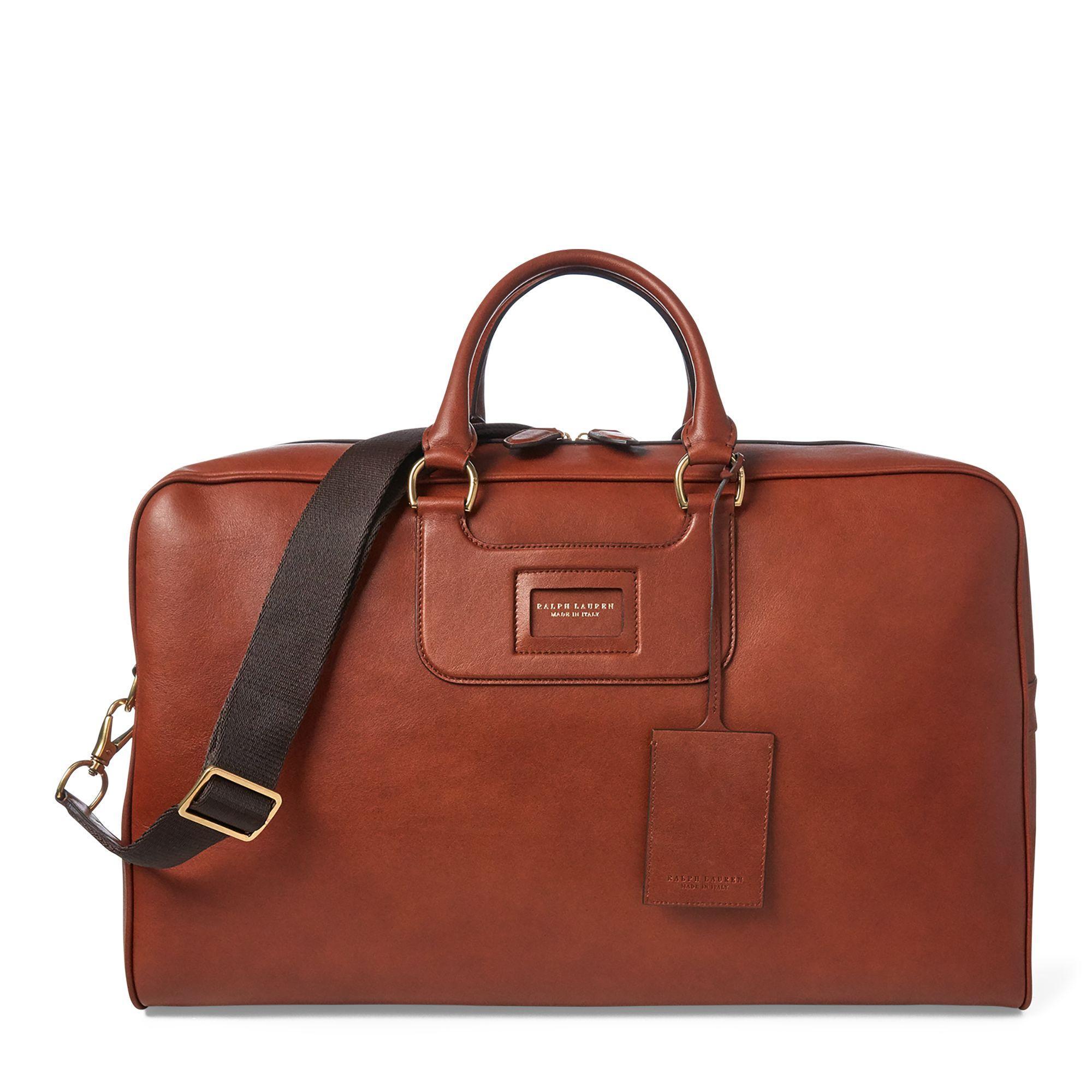 e6e10dbf391 Ralph Lauren Purple Label Calfskin Duffel Bag in Brown for Men - Lyst
