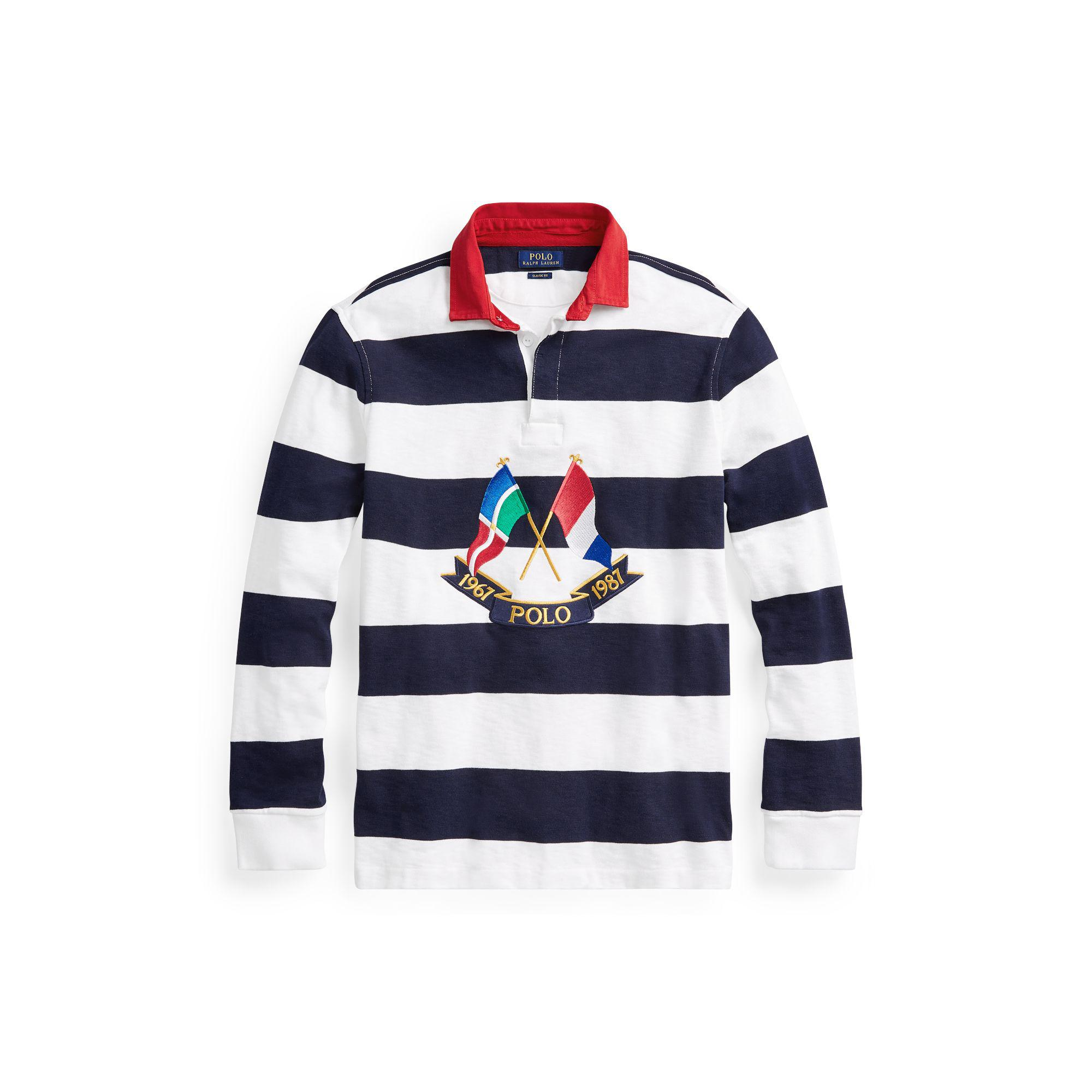 b2ed12393a8 ... where to buy polo ralph lauren classic fit cotton rugby polo in blue  for men lyst