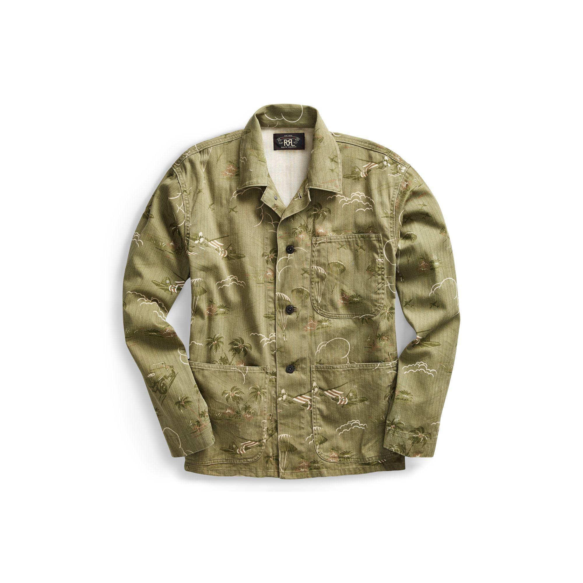 5fa5c0978b Lyst - RRL Cotton Chore Jacket in Green for Men