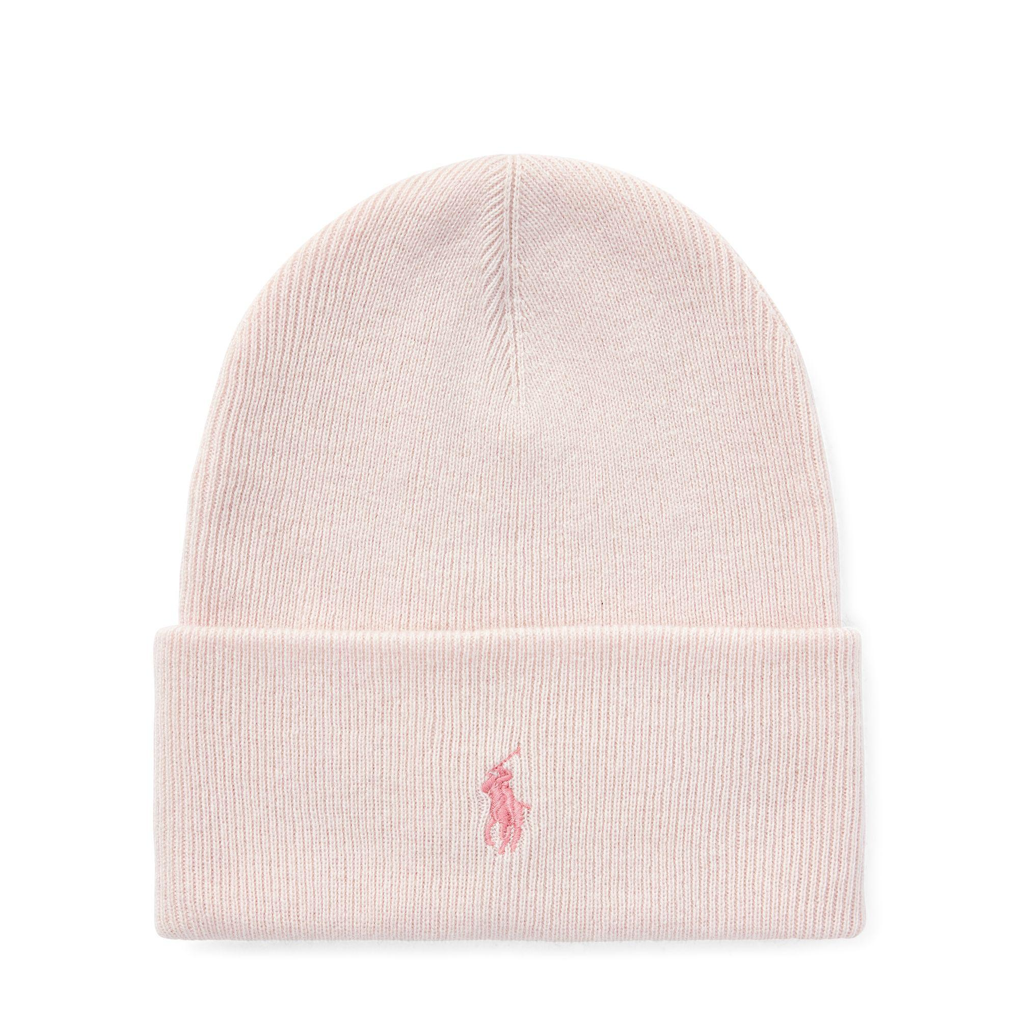07d76fdeb295e5 Lyst - Ralph Lauren Pink Pony Wool-cashmere Hat in Pink