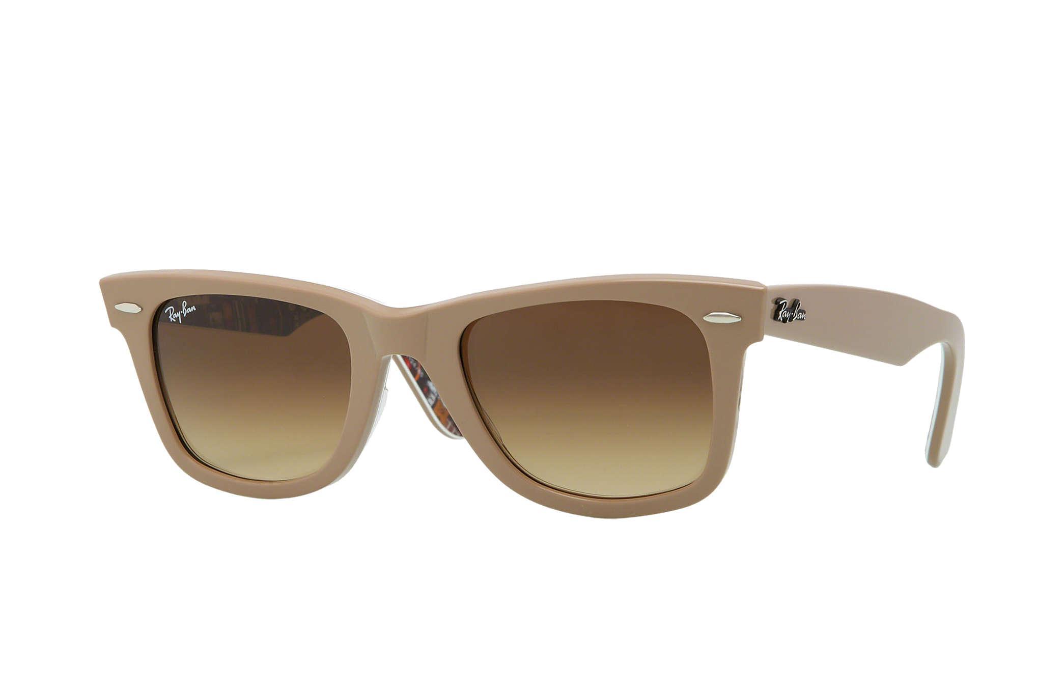 dadb24325e ... rb2140 brown leopard sunglasses aa81d 022c2  australia lyst ray ban  original wayfarer rare prints in brown a755c dcff5