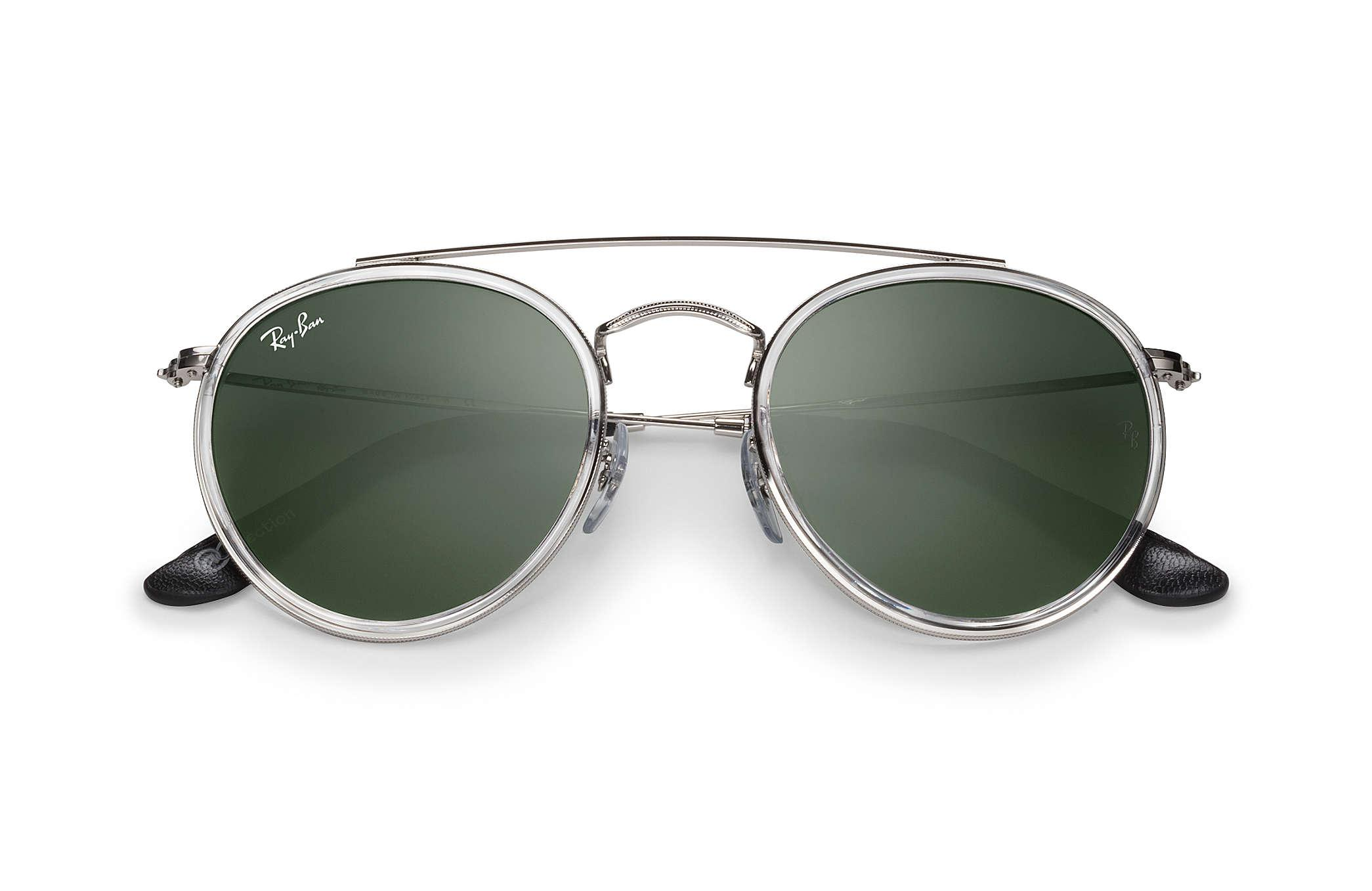 Lyst - Ray-Ban Round Double Bridge @collection in Green for Men