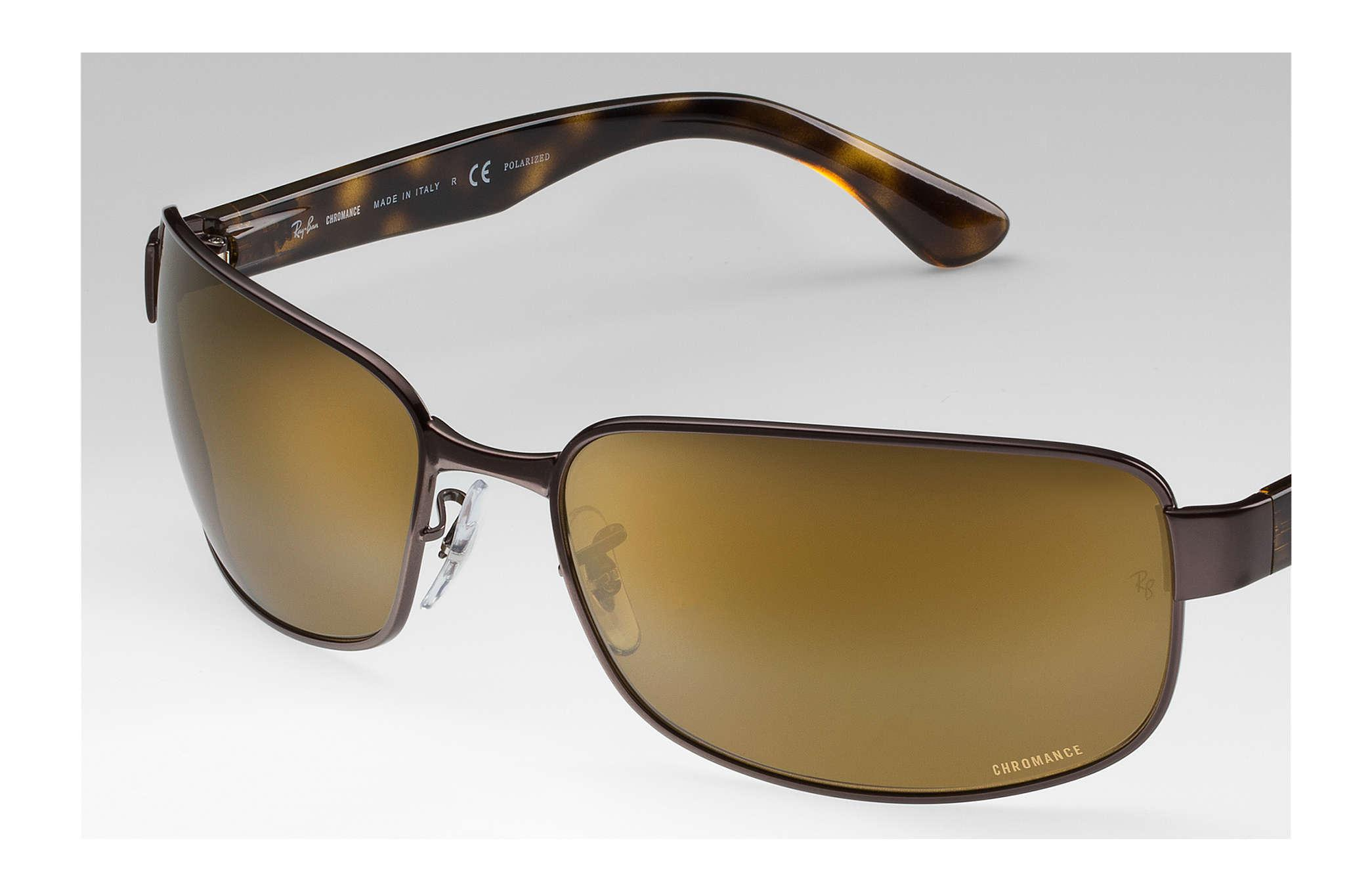 d881a1e51cf Ray-Ban Rb3566 Chromance in Brown for Men - Lyst