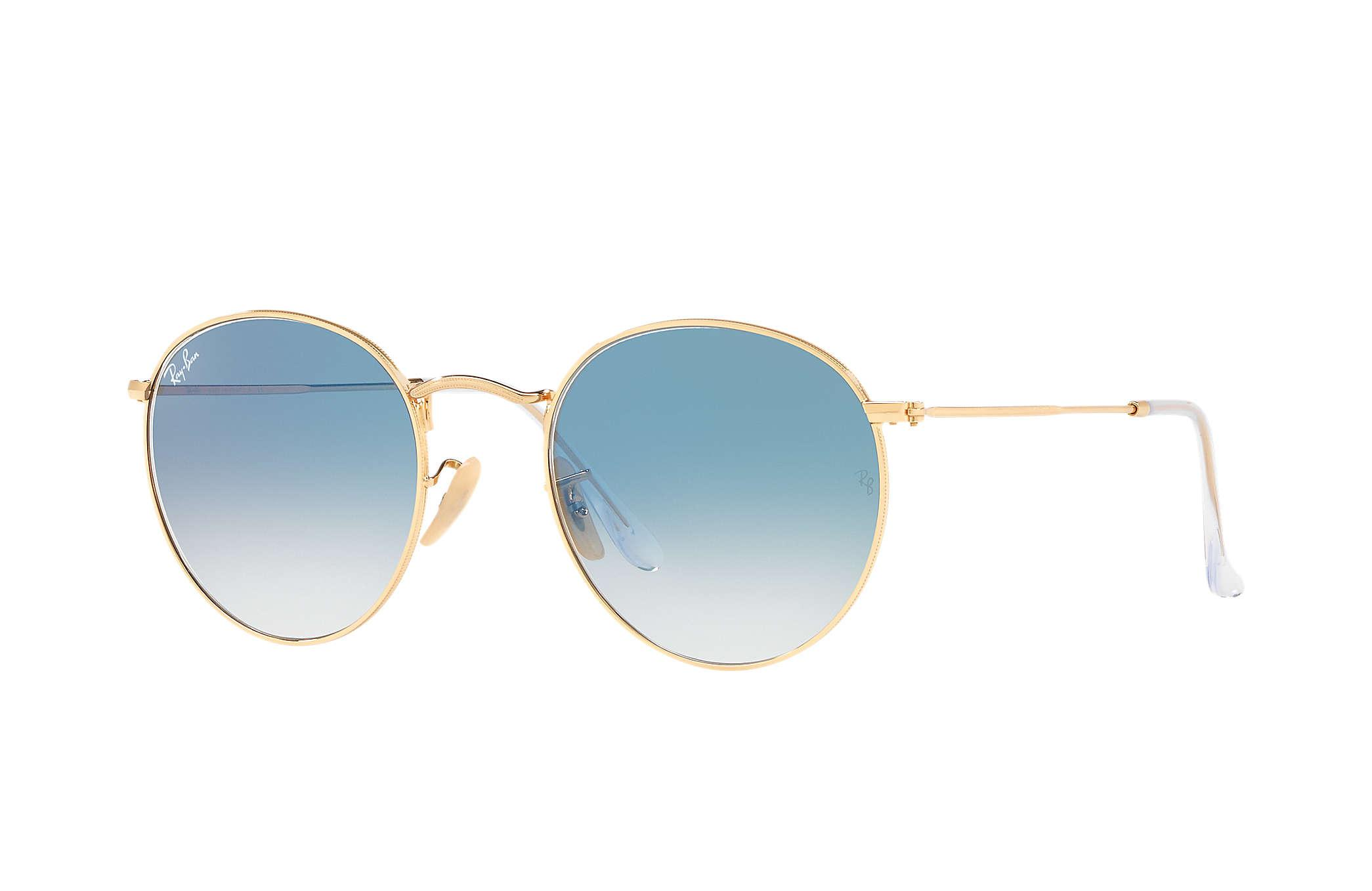 8c74b494c2 Ray-Ban Round Flat Lenses in Blue - Lyst