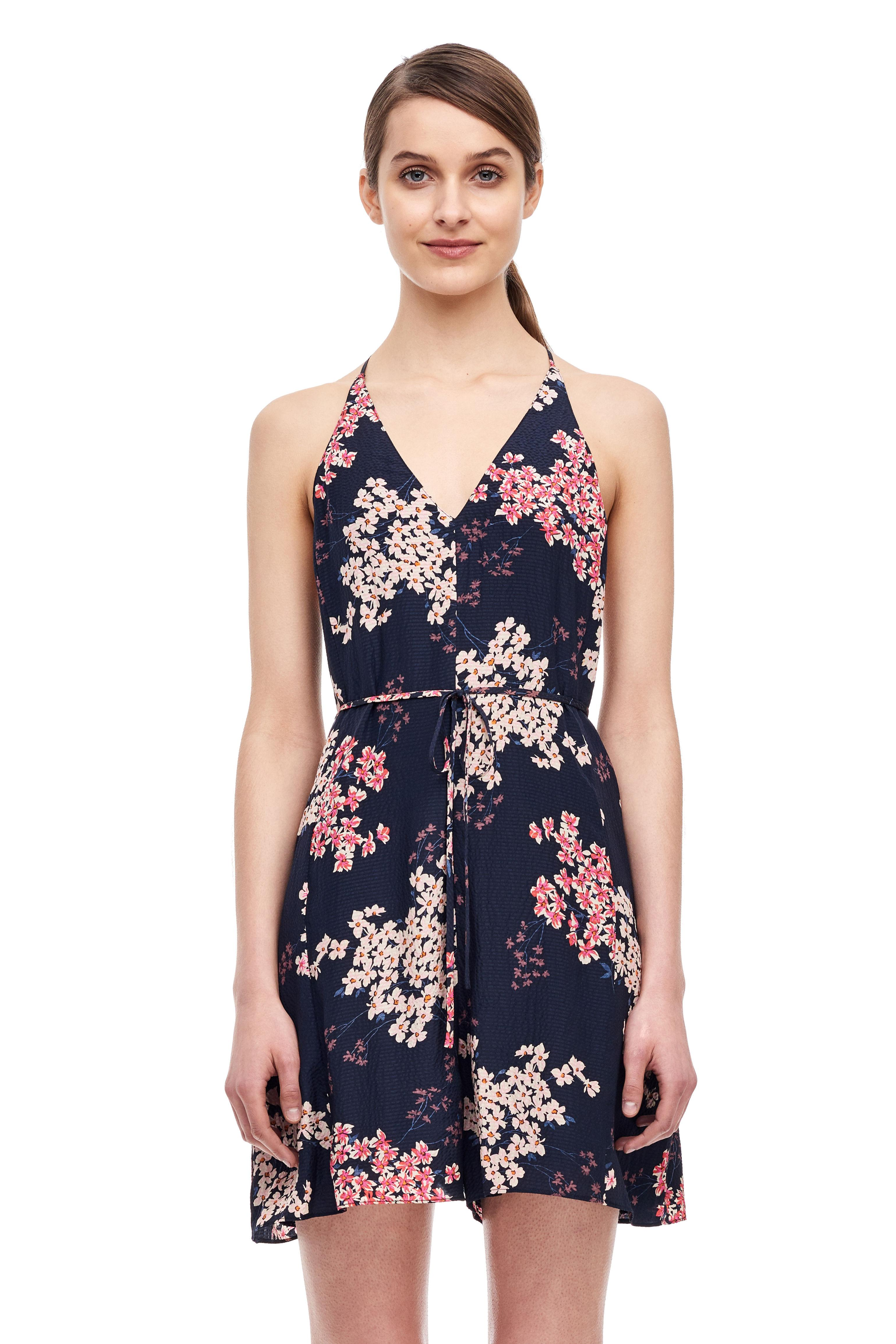 a4b23b08a3e Lyst - Rebecca Taylor Phlox Floral Jumpsuit in Blue