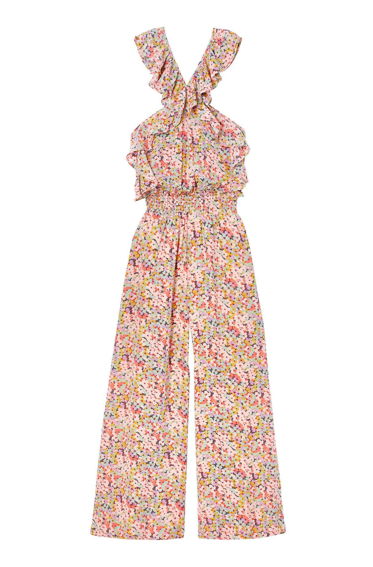7f4628a8dd Lyst - Rebecca Taylor Margo Floral Silk Jumpsuit in Pink