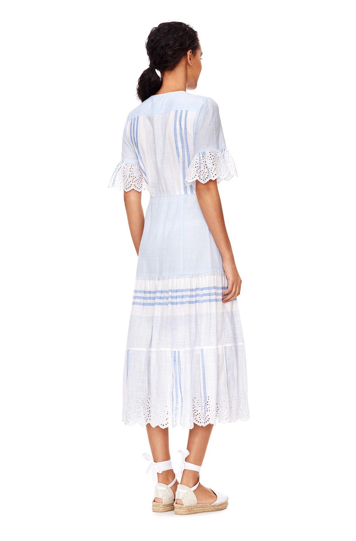 76517377a2 Rebecca Taylor La Vie Variegated Stripe Dress in Blue - Lyst