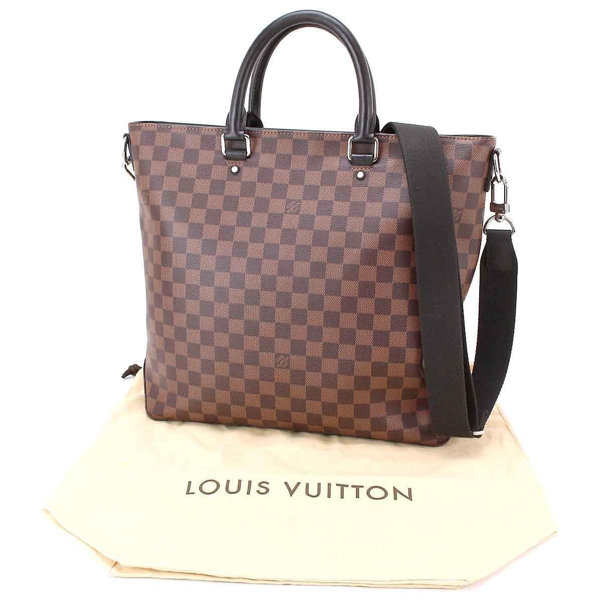 Lyst - Louis Vuitton Damier Ebene Jake Tote 2way Shoulder Tote Bag ... 4609736315714