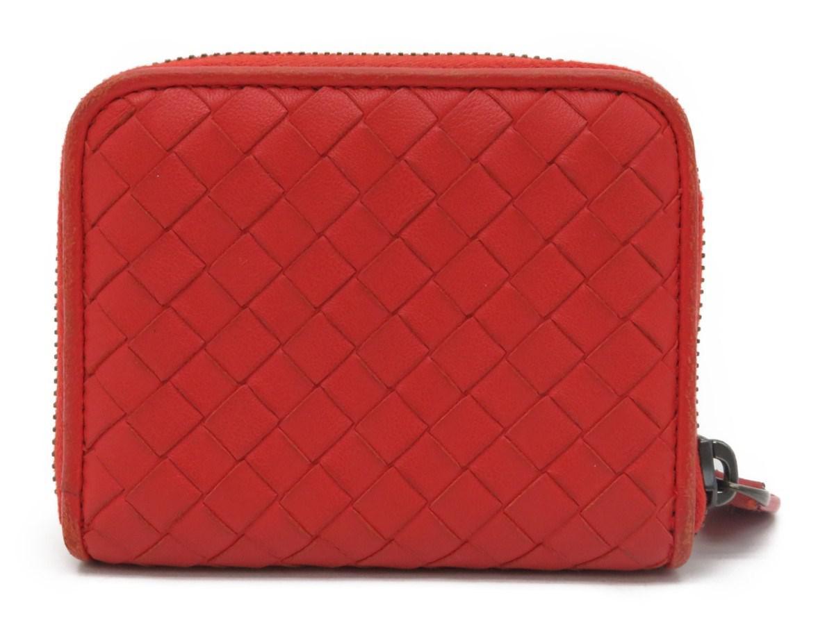 36a5cccdaef1 Lyst - Bottega Veneta Coin Case Intrecciato Leather Orange 3813 in ...