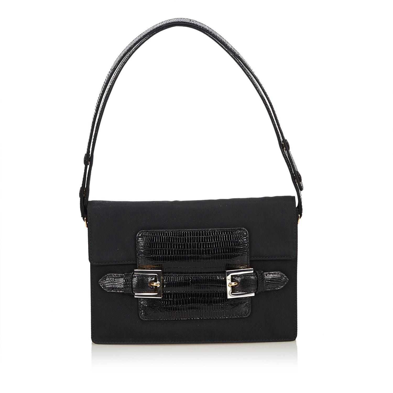 Lyst - Fendi Chemical Fiber Shoulder Bag in Black f6eeddc8a13db