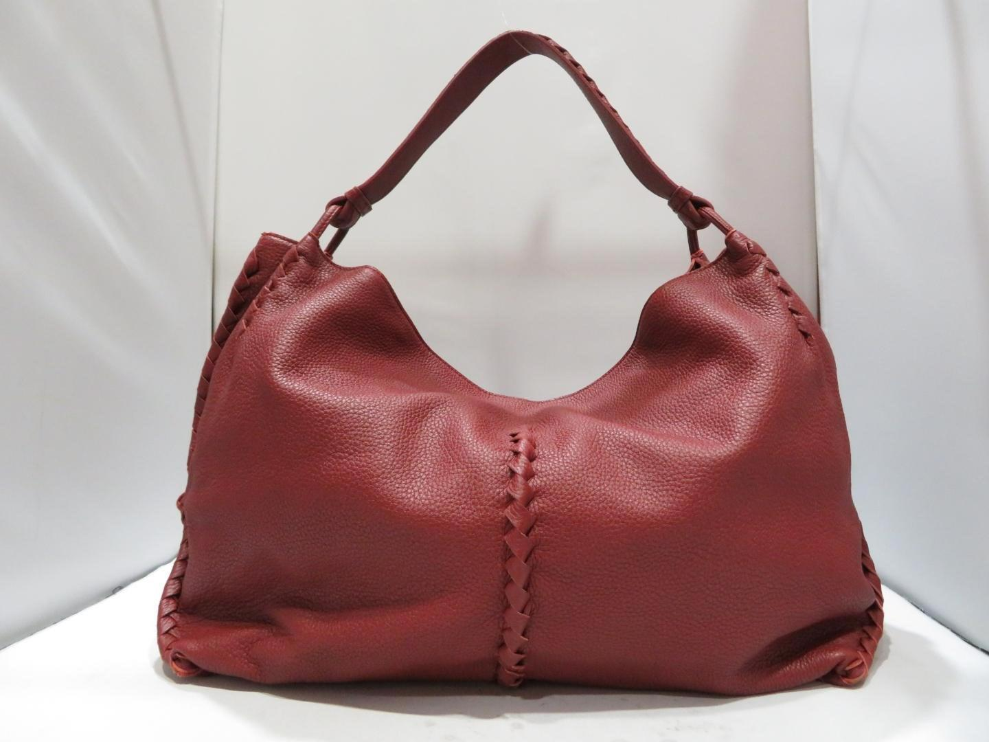 54e03a3668 Lyst - Bottega Veneta Authentic Shoulder Bag Leather Wine Red Used Vintage  in Red