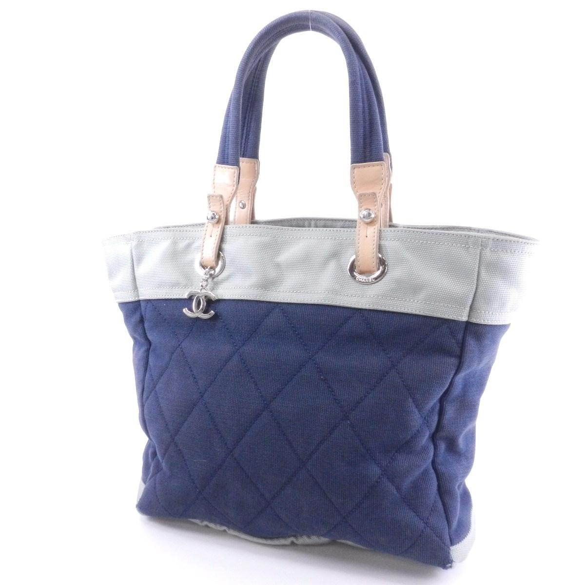 cd6e64f6a30f Chanel Canvas Tote Bag Paris Biarritz Tote in Blue - Lyst