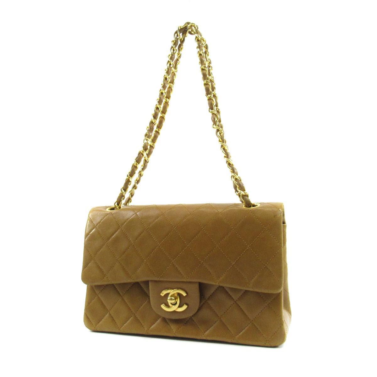 7eec68ae9c1 Lyst - Chanel Lambskin Shoulder Bag Coco Mark Chain in Brown