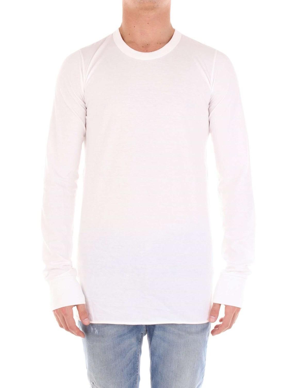 0e5084936fda6 Lyst - Rick Owens Men s Ru18s525211 White Cotton Sweater in White ...