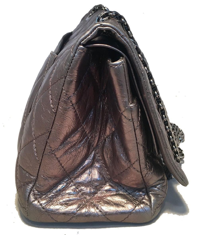 d8323701d510 Lyst - Chanel Silver Aged Calfskin 2.55 Reissue 227 Double Flap ...