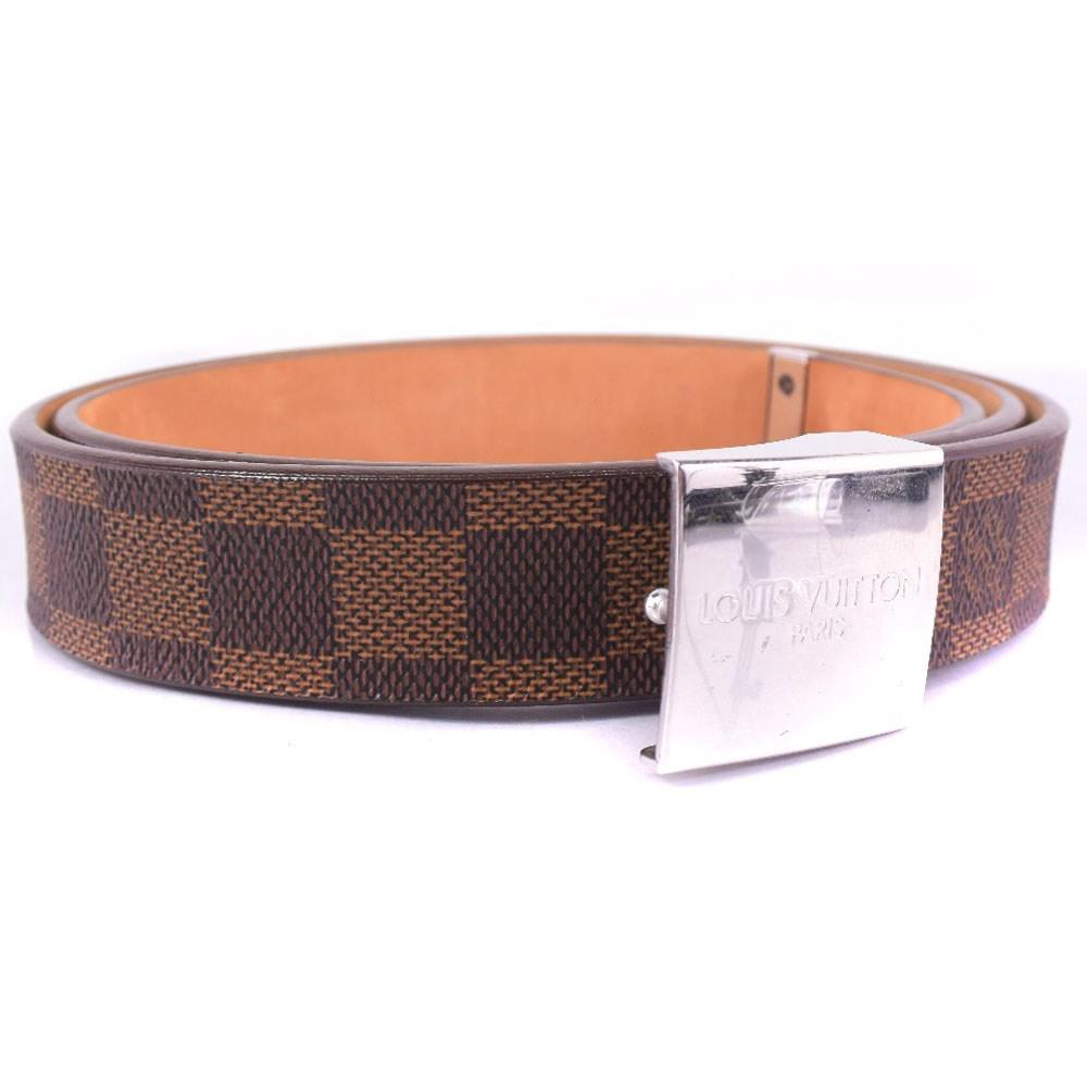 01d2416664f5 Lyst - Louis Vuitton M6801 Damier Canvas Brown Belt Mens in Brown ...