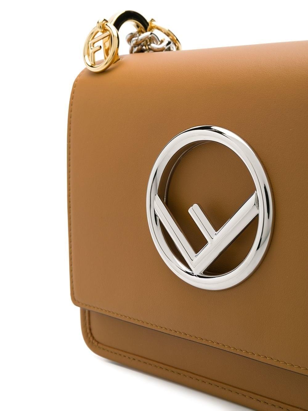 4d8feeed113c Lyst - Fendi Women s 8bt286a3qxf119u Brown Leather Shoulder Bag in Brown