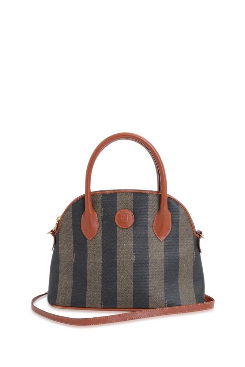 07ecaa5fa598 Lyst - Fendi Pvc Pecan 2 Way Shoulder Bag in Brown
