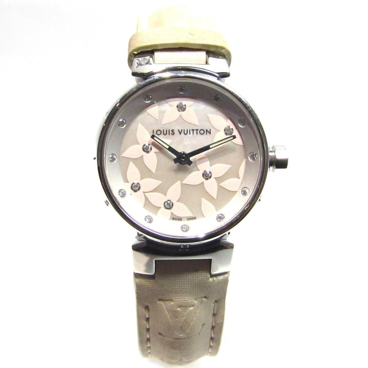 5f66e72d1359 Lyst - Louis Vuitton Auth Tambour Lovely Diamond Watches Watch Q121h ...