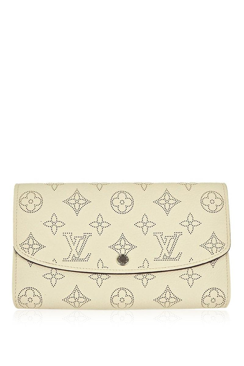 9d886caa934dd Louis Vuitton Bi-fold Long Wallet Portefeuille Iris Mahina Leather ...