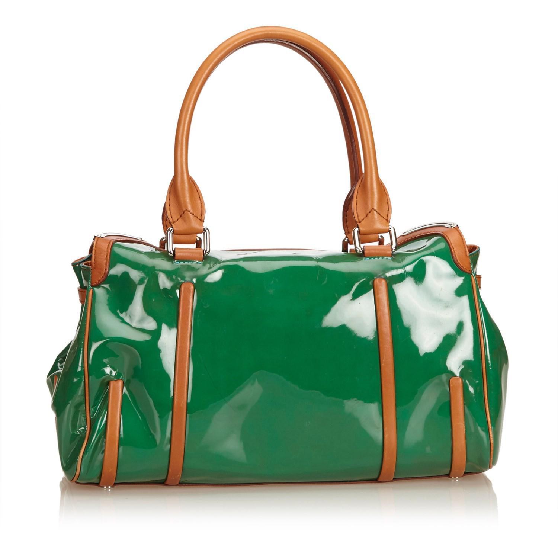 c845e940f6 Lyst - Céline Patent Leather Shoulder Bag in Natural